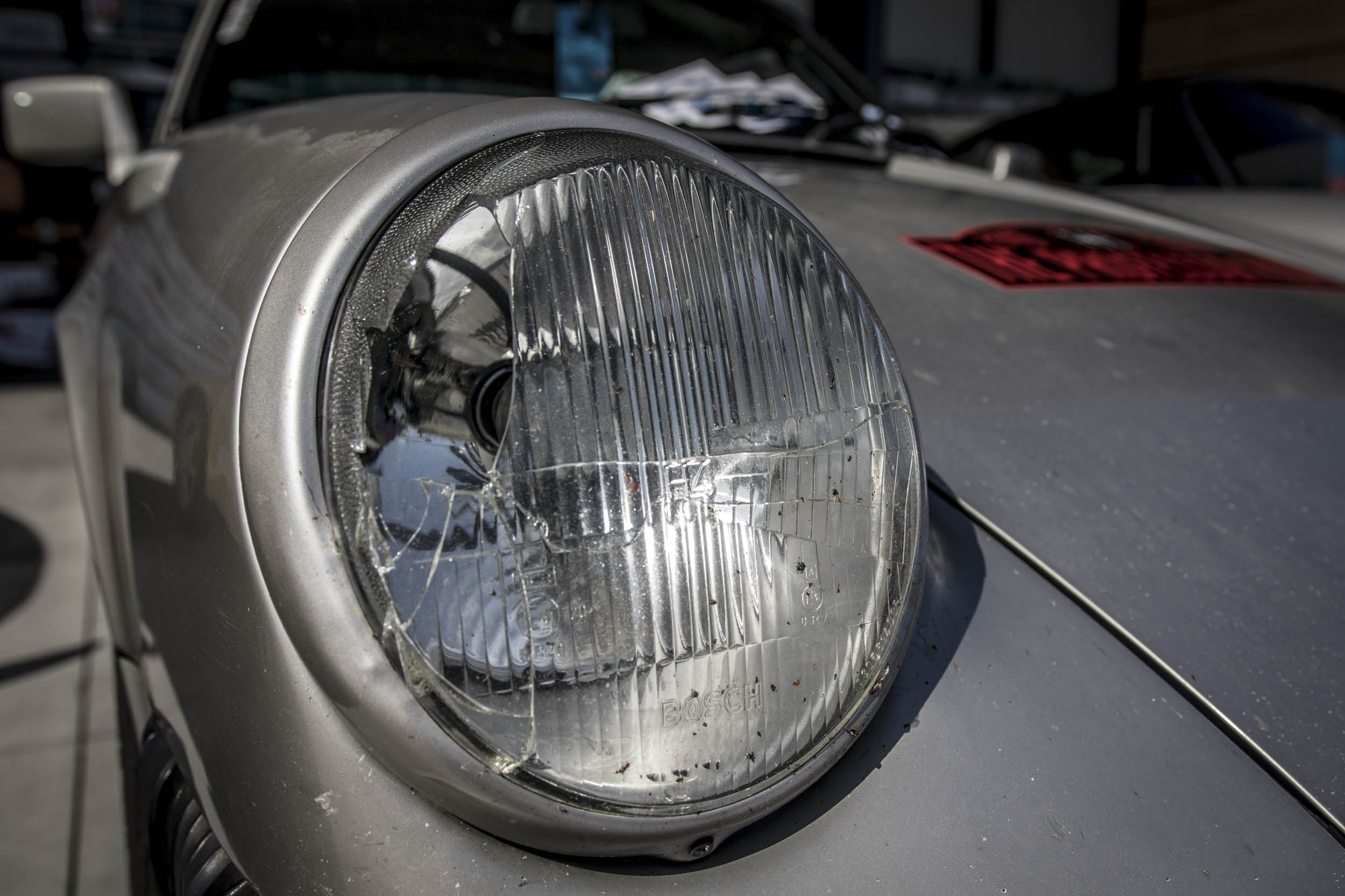 Broken 911 headlight