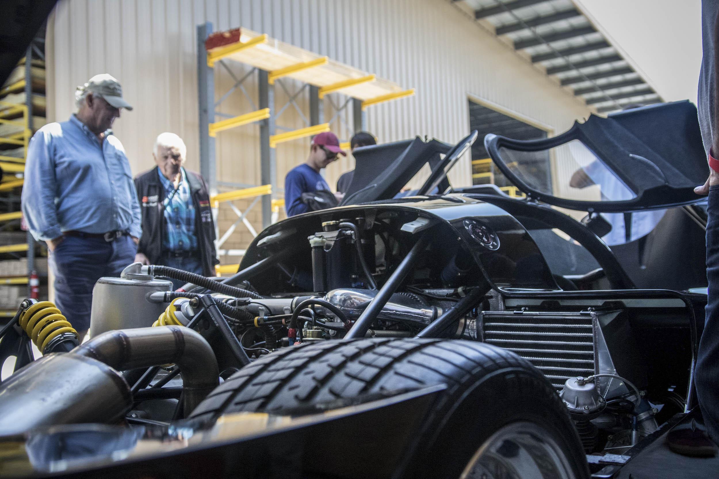 Porsche engine detail