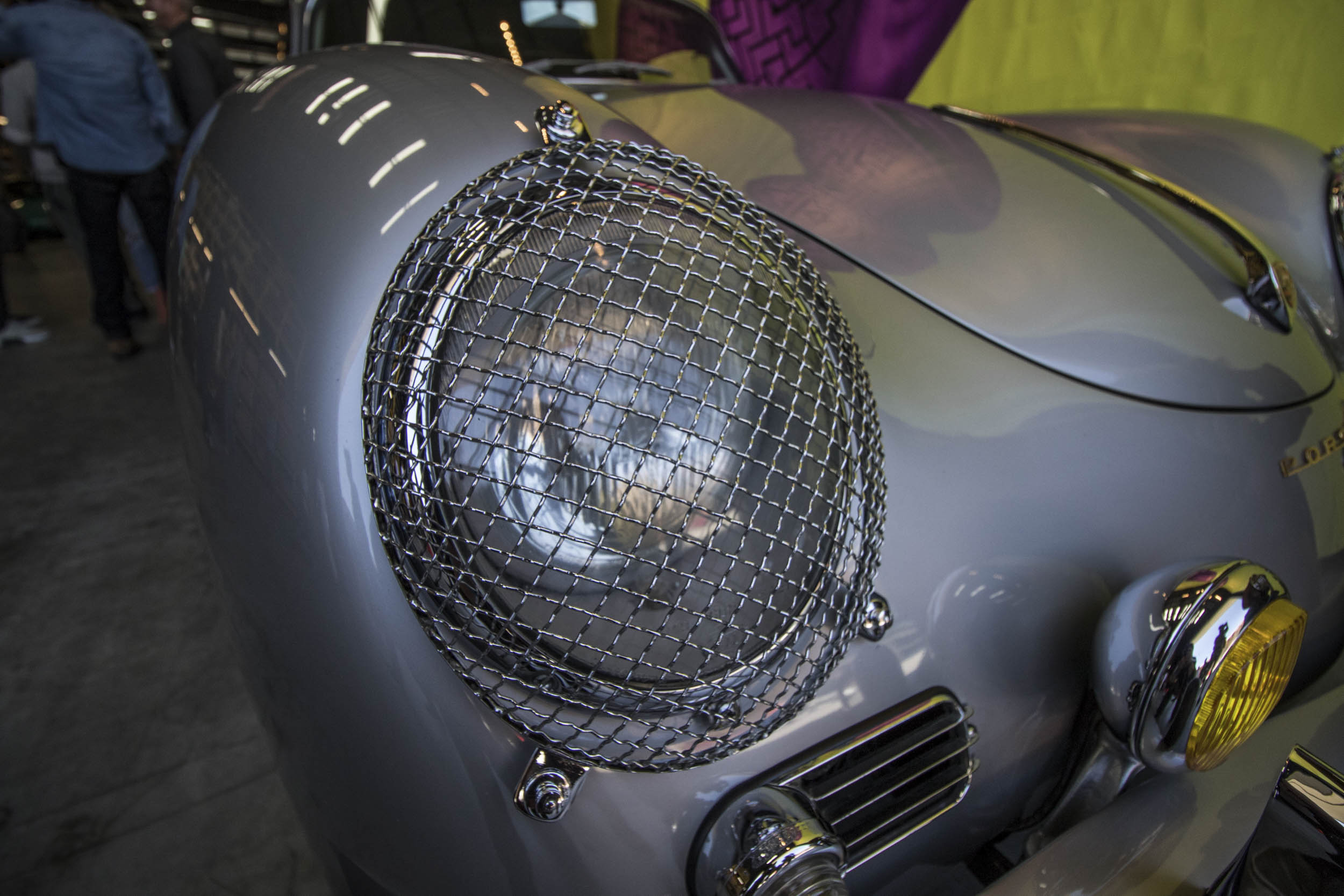 wire covered headlight