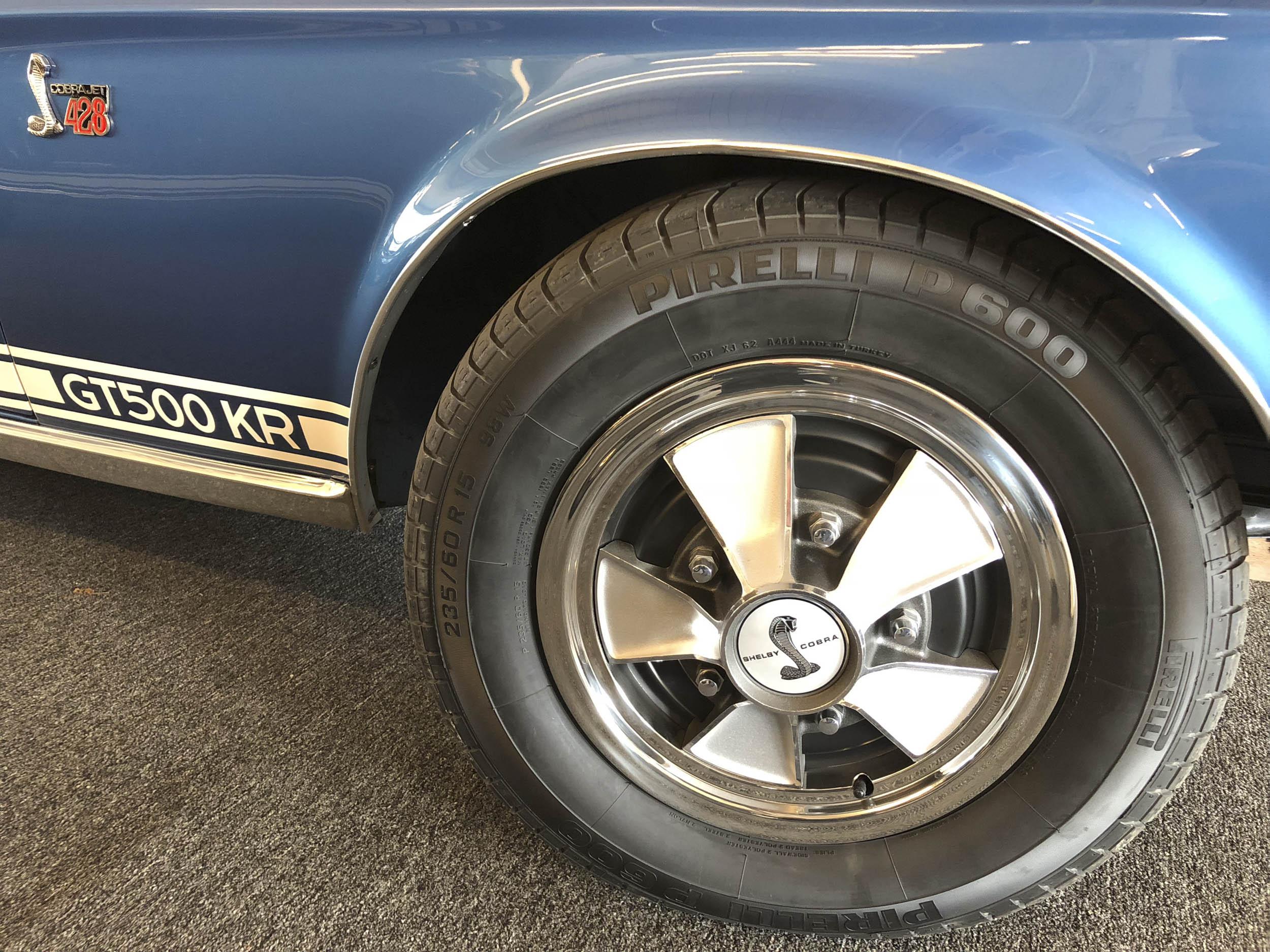 Modern rubber tires on a GT500 KR