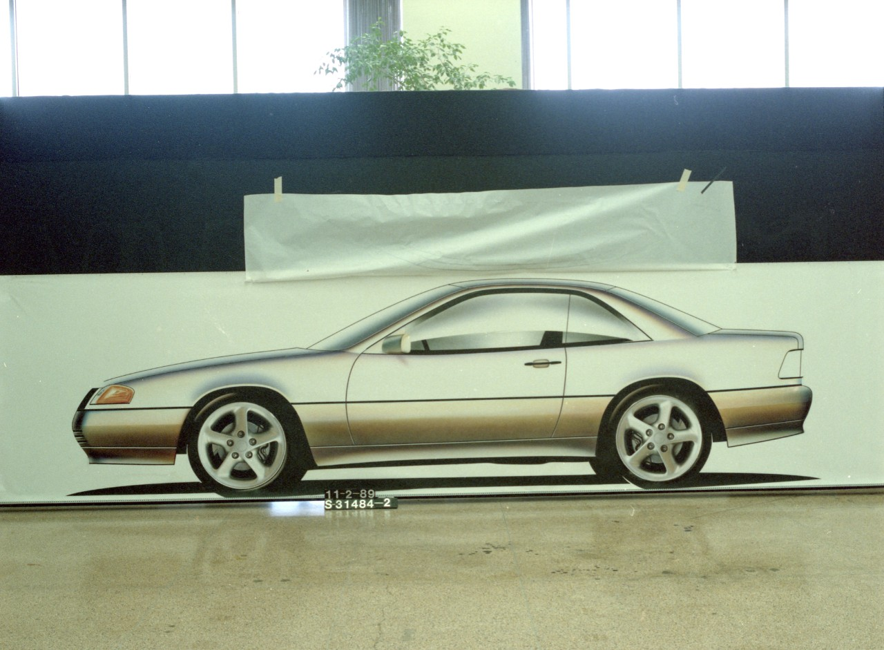 Mercedes-Benz SL side profile of SN95 Mustang Early Design