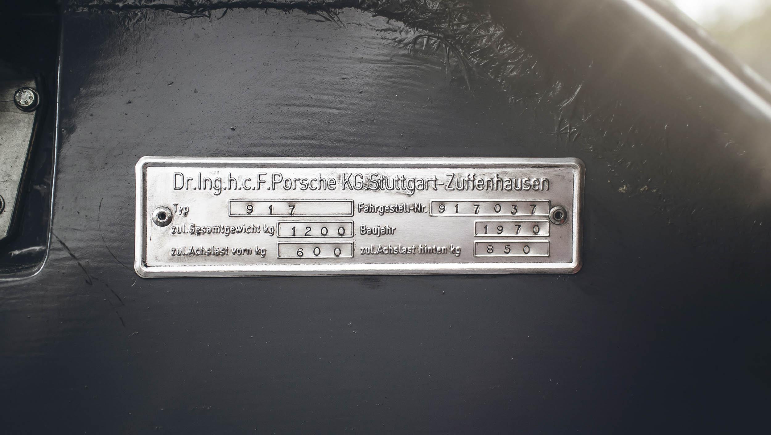 Porsche 917K build plate