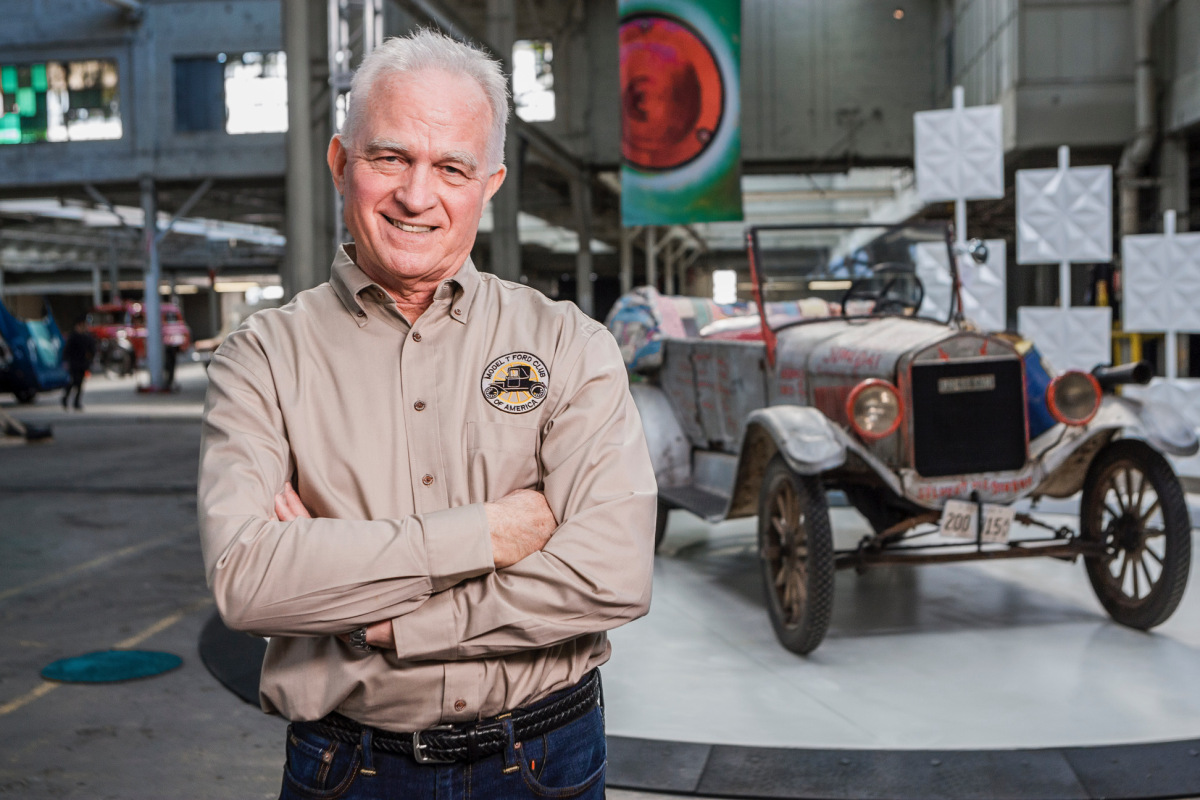"John Butte, owner of the Silver Streak, on the set of the new Discovery Channel show ""Sticker Shock."""