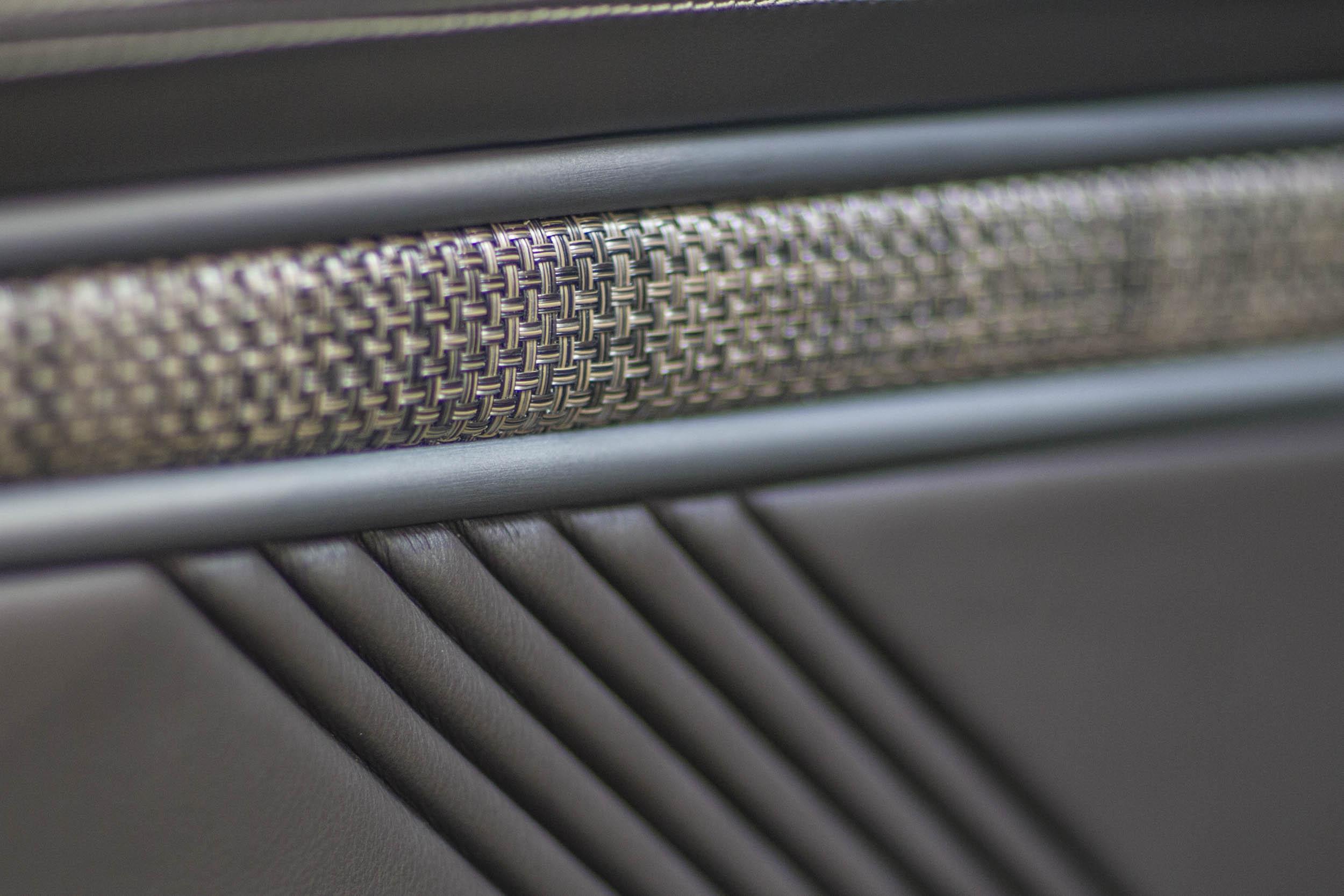 Speedkore 1970 Mustang interior cloth detail