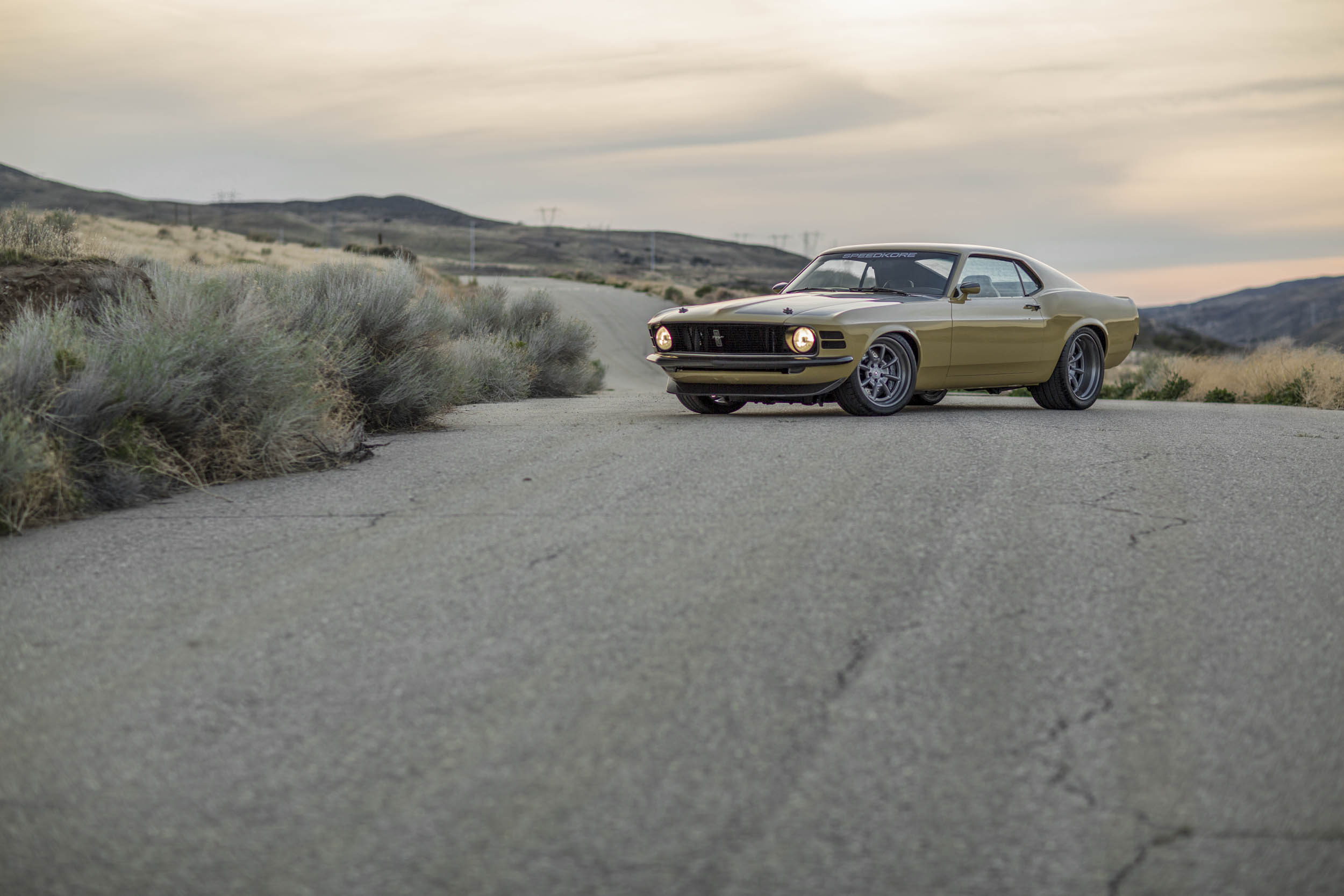 Robert Downey Jr.'s Speedkore 1970 Mustang in the desert