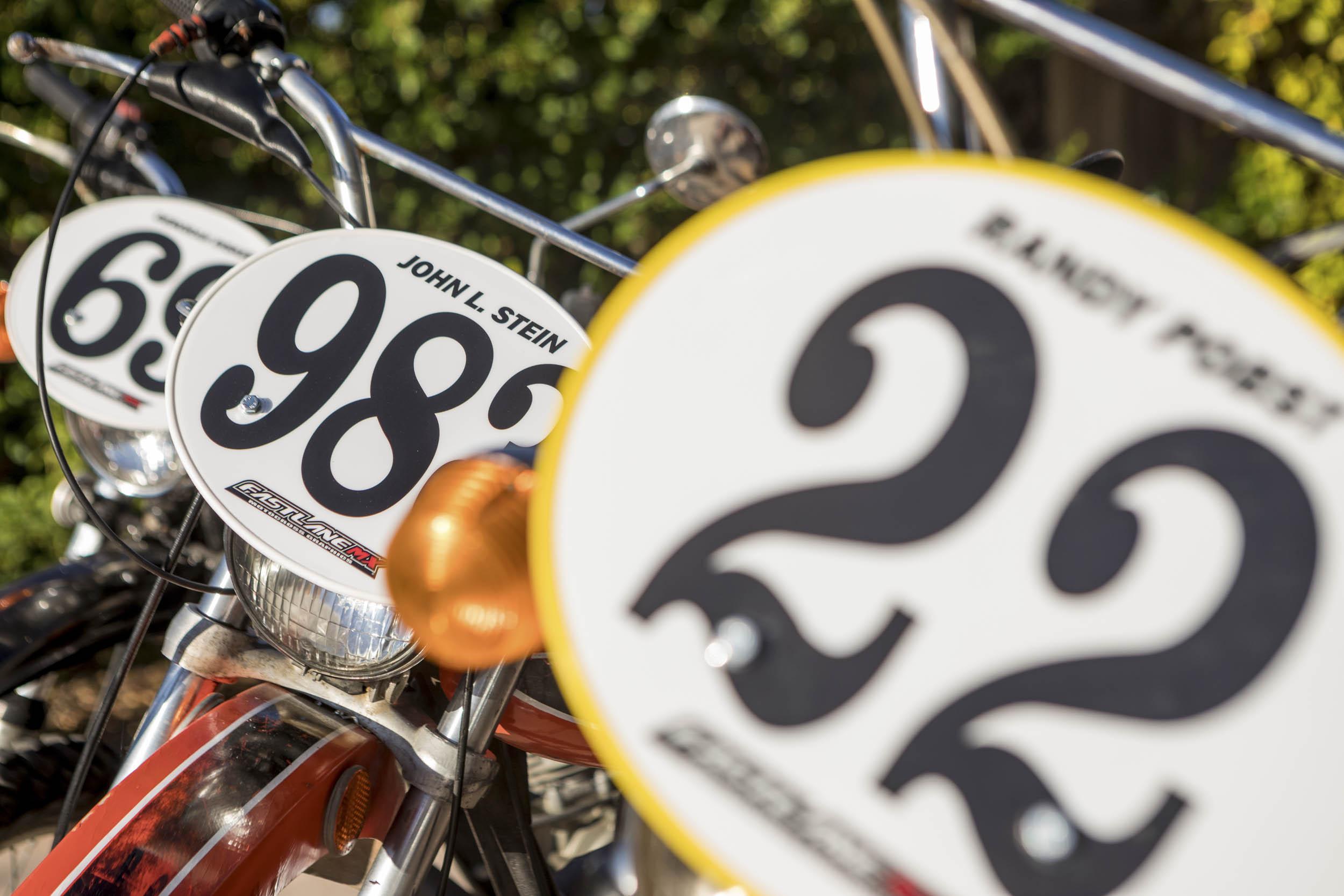 Dirt bike numbers