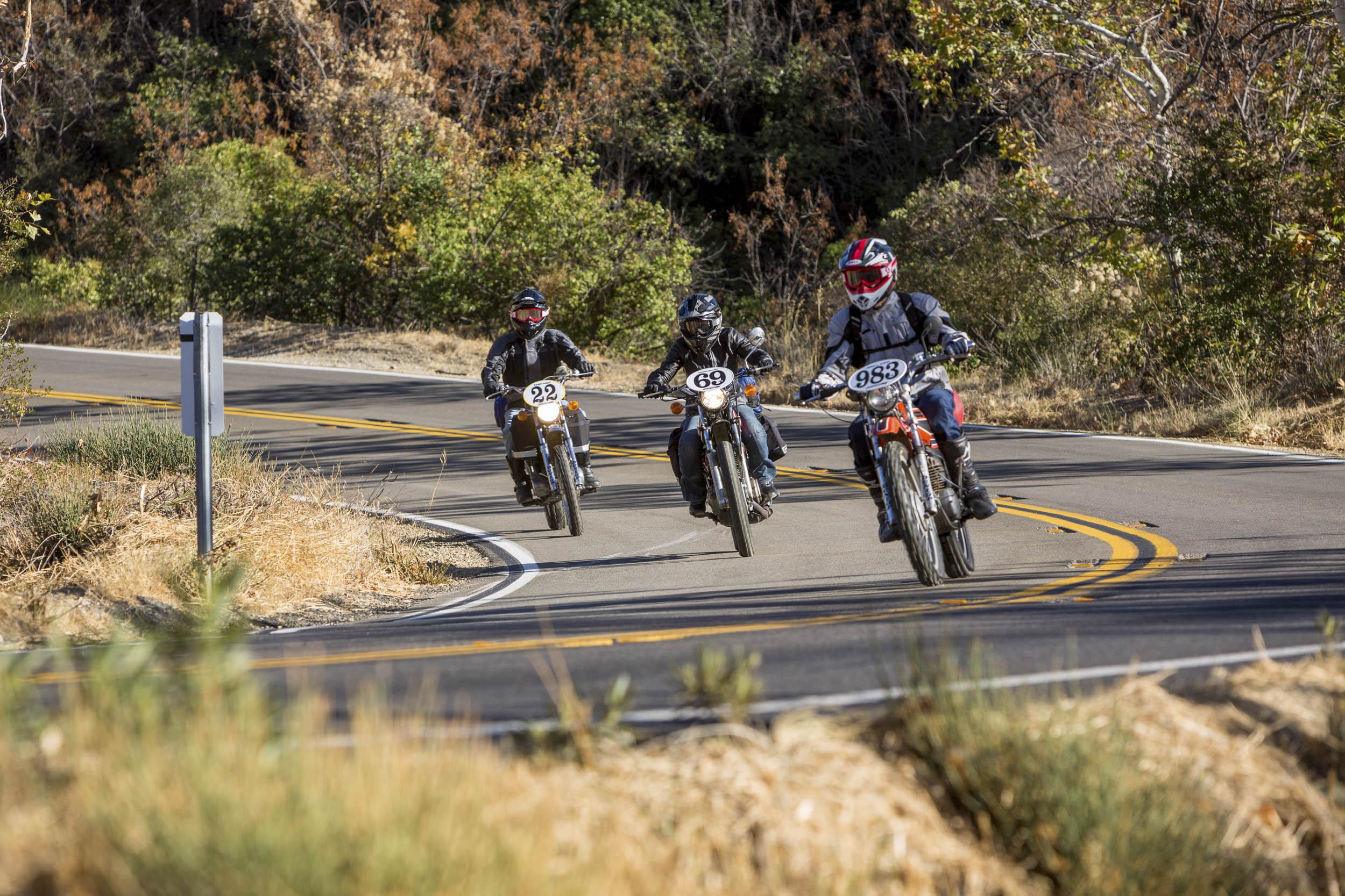 riding vintage motocross bikes
