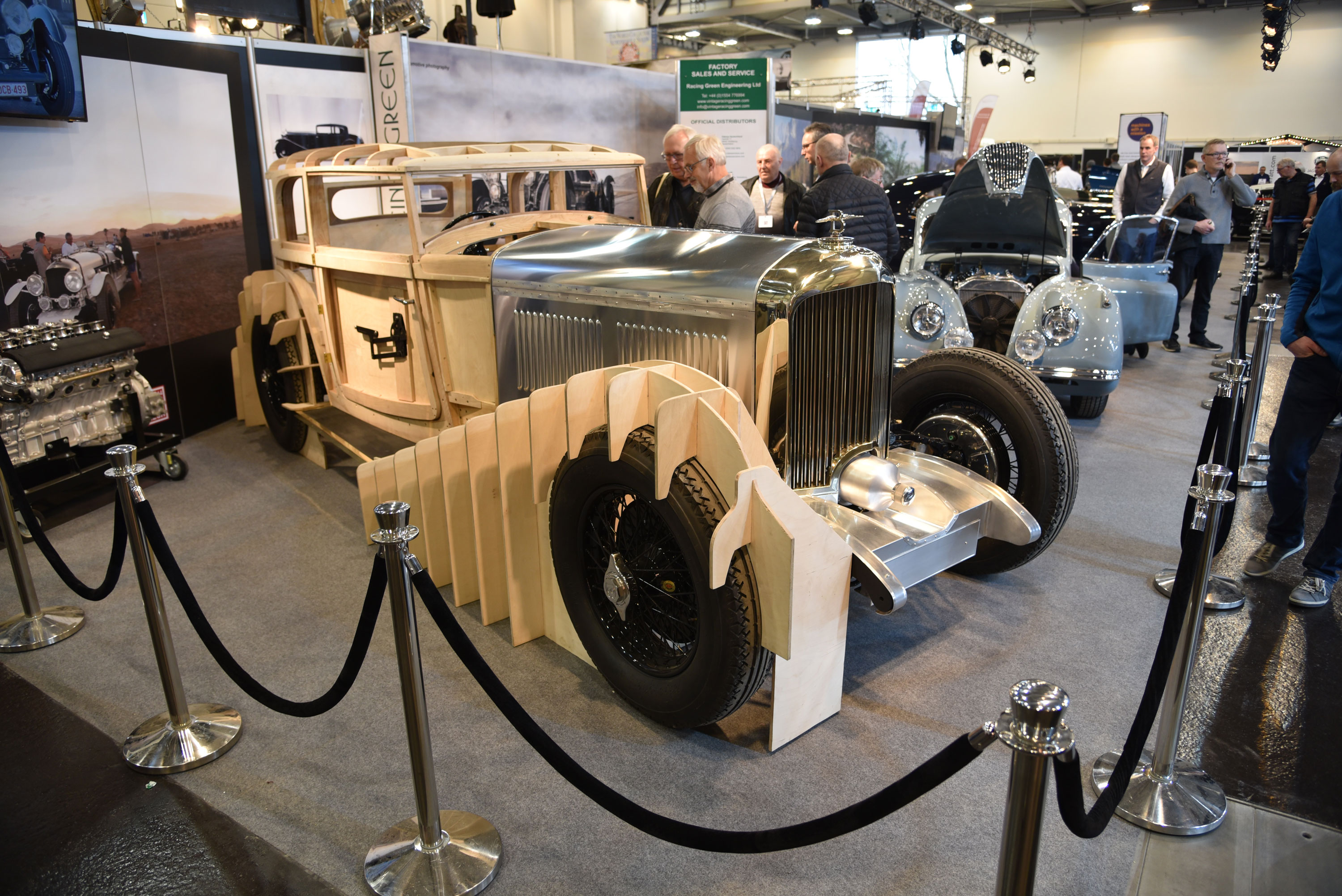 Techno Classica Essen isn't just cars and parts for sale, it's also filled with booths for service providers such as Racing Green Engineering in Carmarthenshire, Wales, which offers full restorations on top-level classics such as this pre-war Bentley.