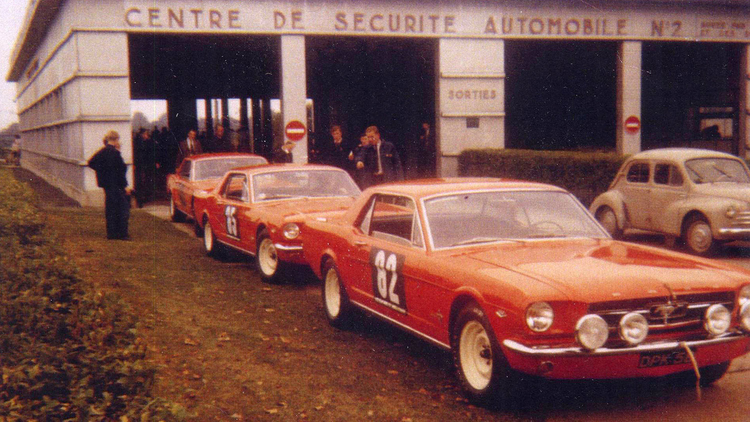 The #82 Mustang is the sole survivor of the trio that competed in the 1964 Tour de France.
