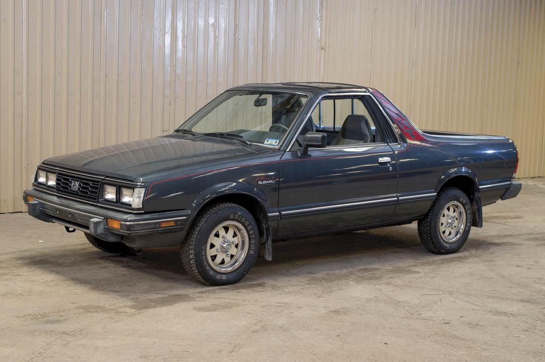 1987 Subaru Brat GL front 3/4