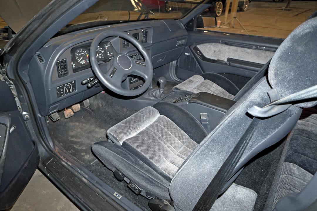 1987 Ford Thunderbird Turbo Coupe interior