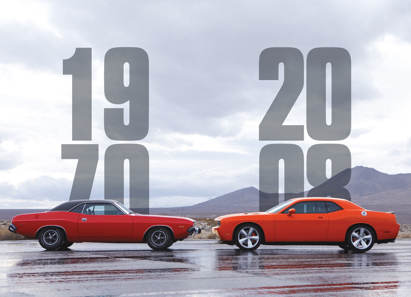 1970 & 2008 Dodge Challengers lined up