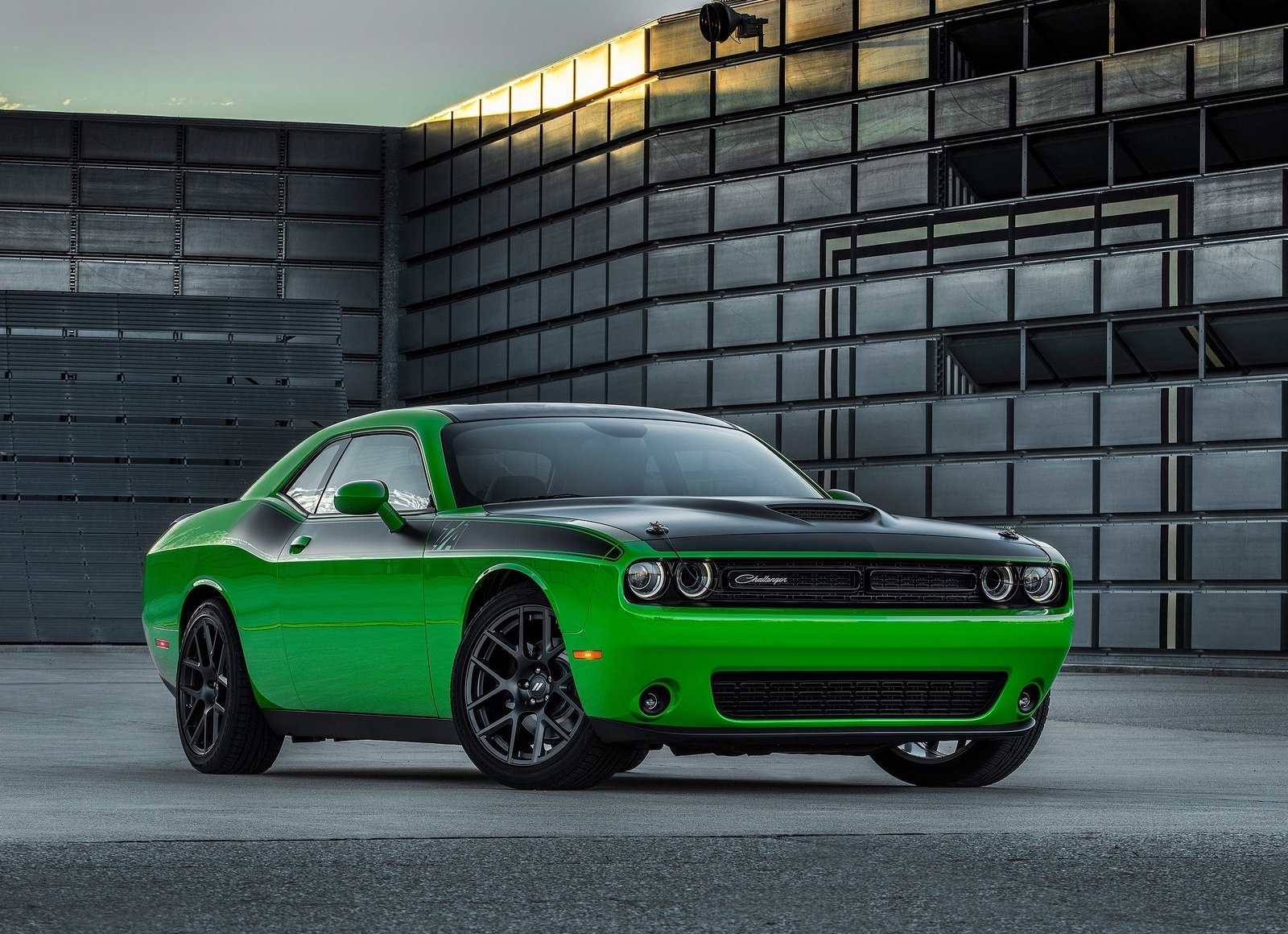 2017 Dodge Challenger T/A green