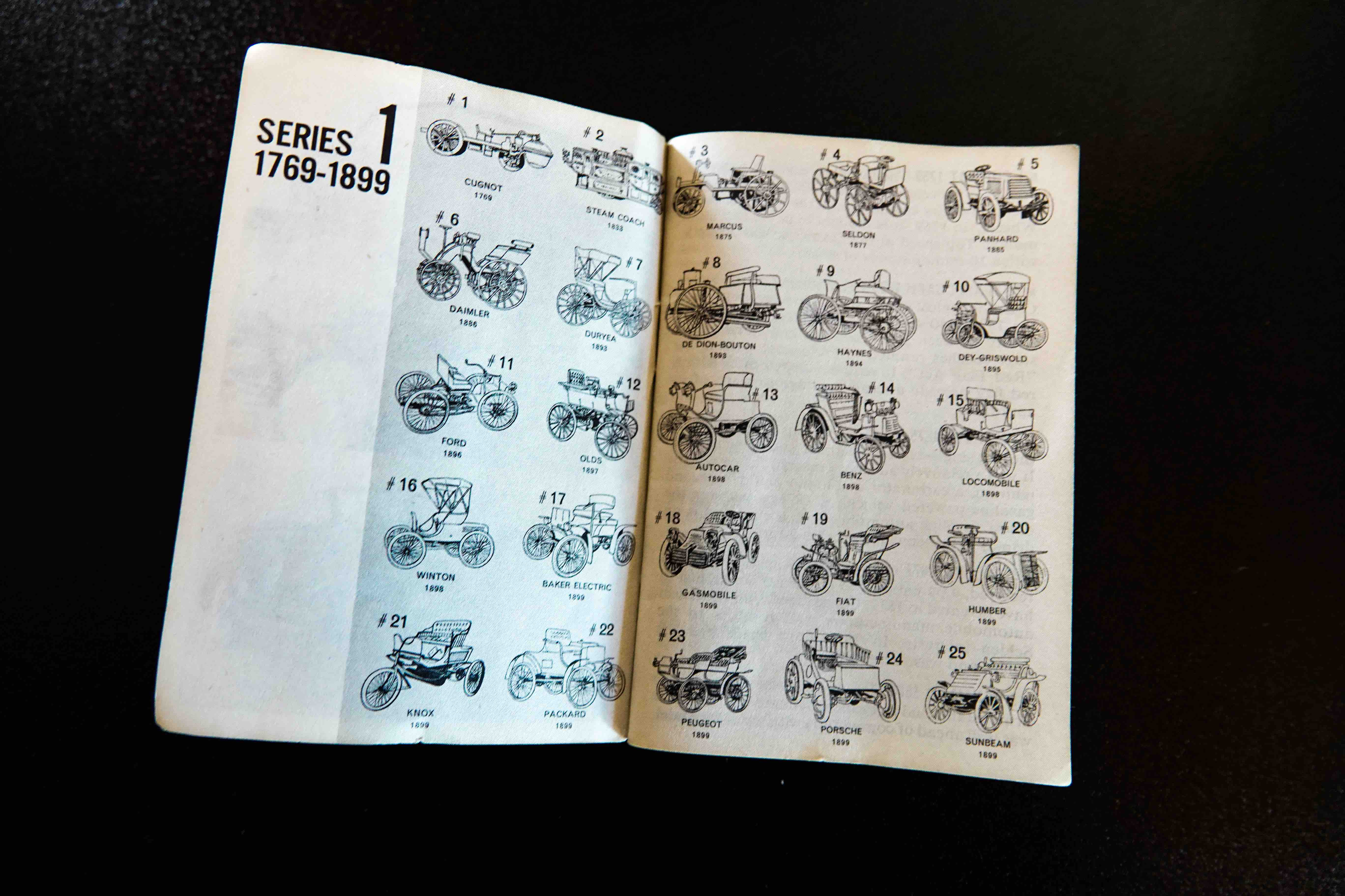 Collectible Jell-o Jello Coins Open Booklet cars