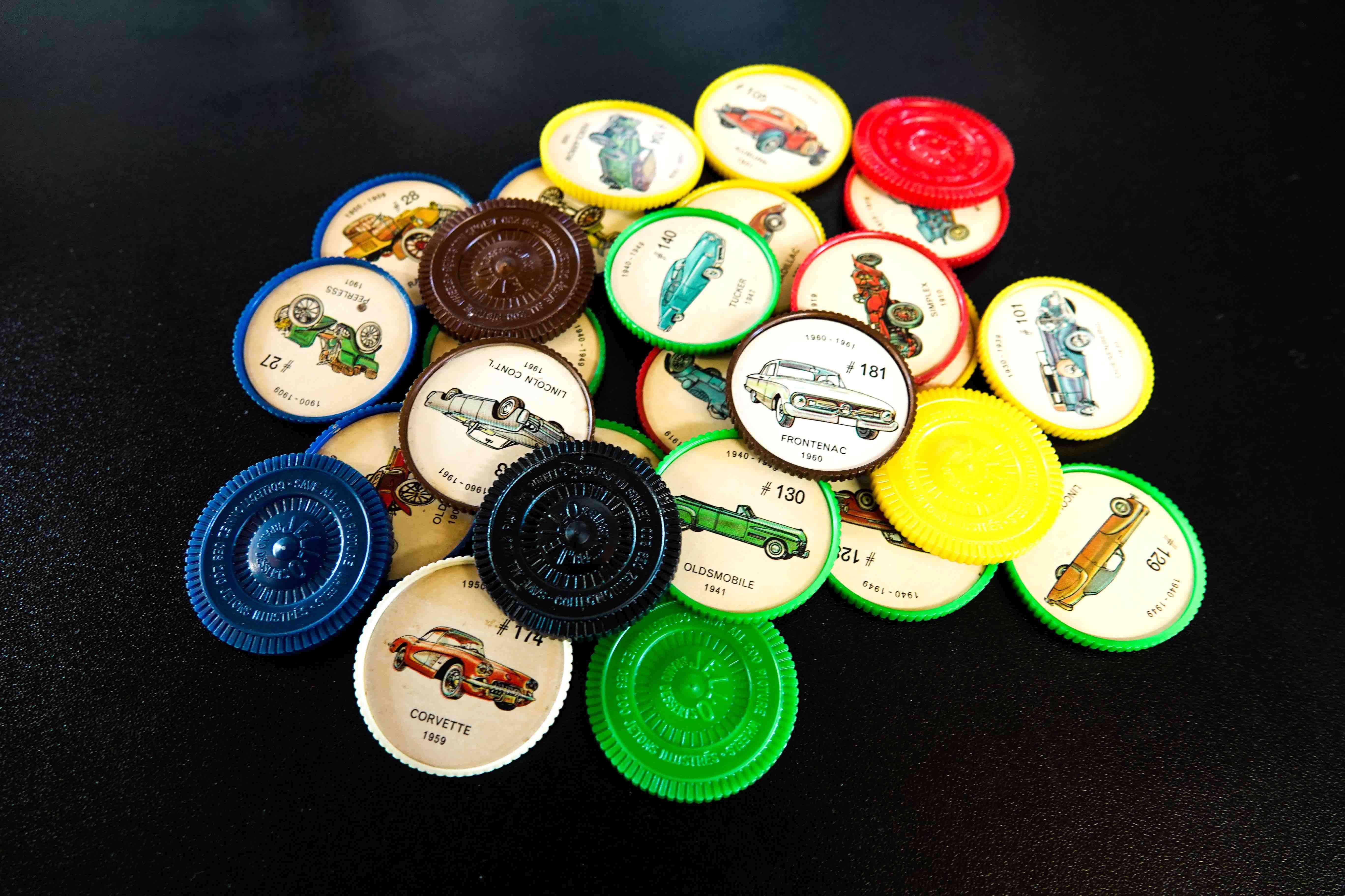 Collectible Jell-o Jello Coins Cars Pile