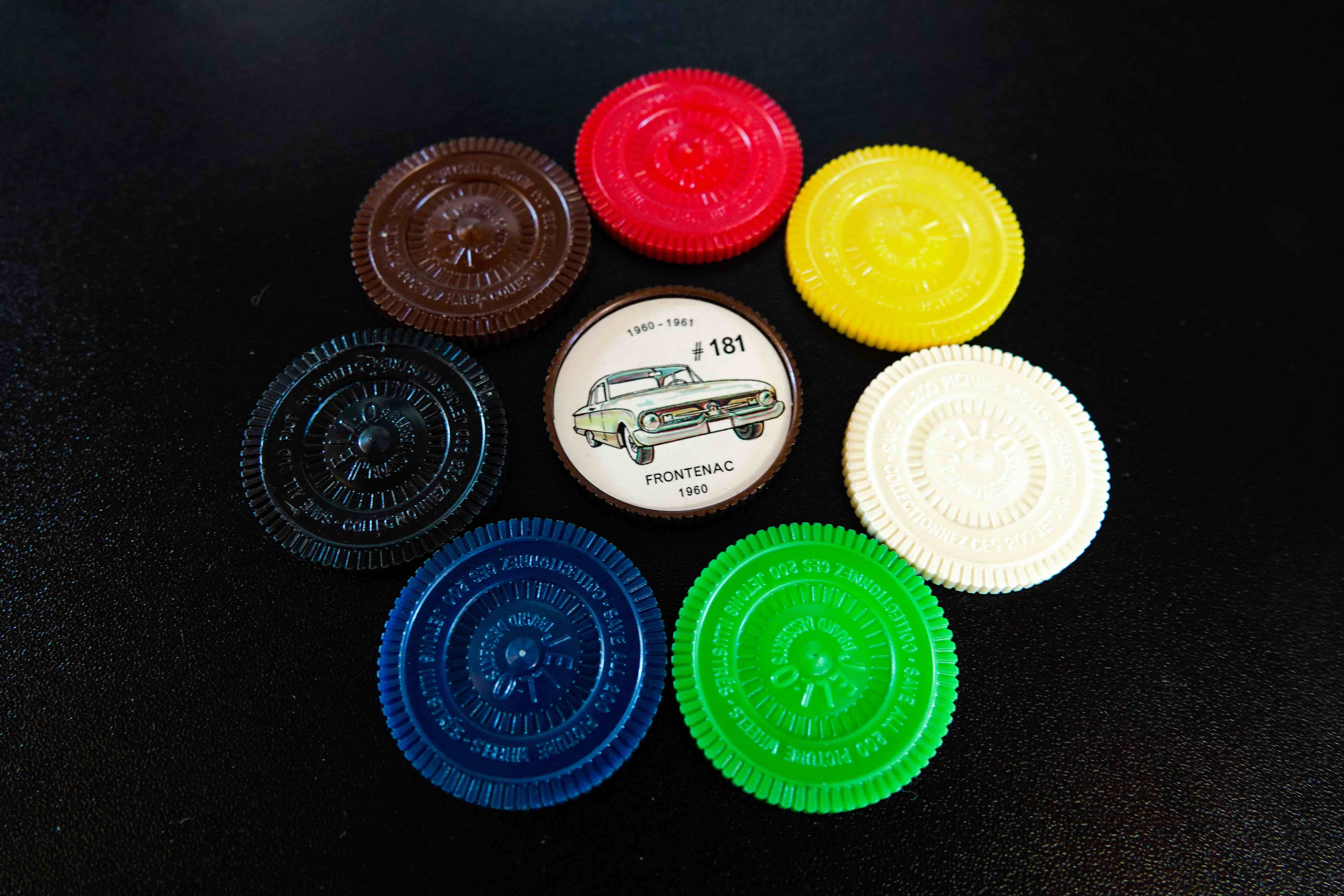 Collectible Jell-o Jello Coins all colors cars canada