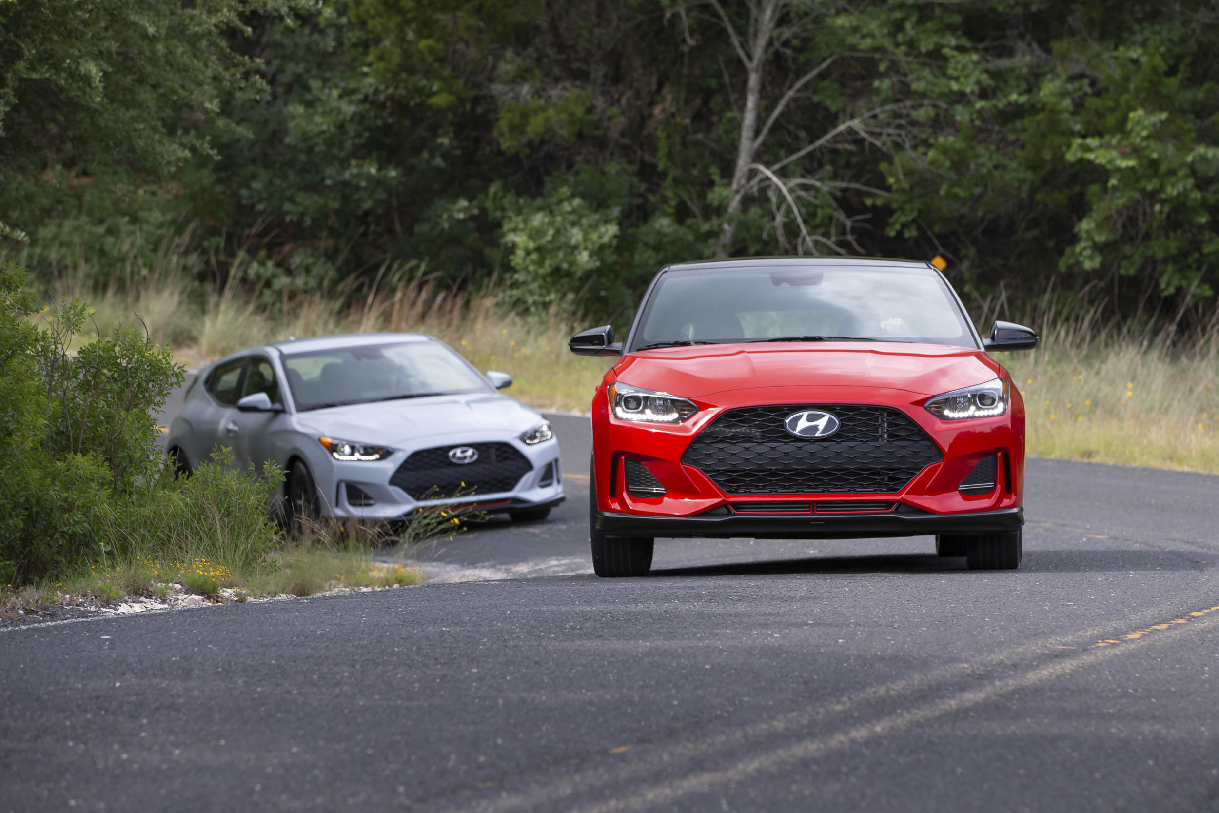 test driving a 2019 Hyundai Veloster