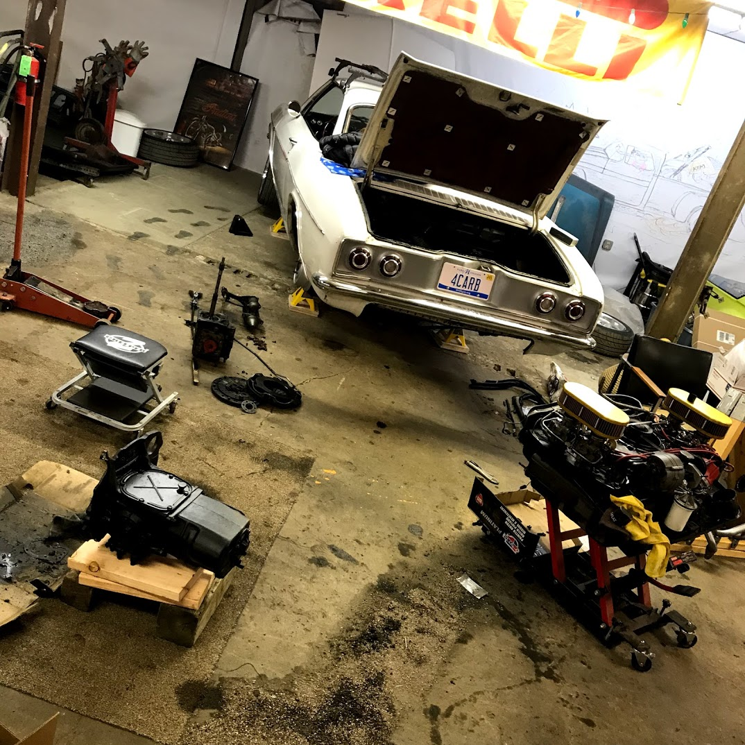 Corvair Corsa Engine and Transmission, Removed