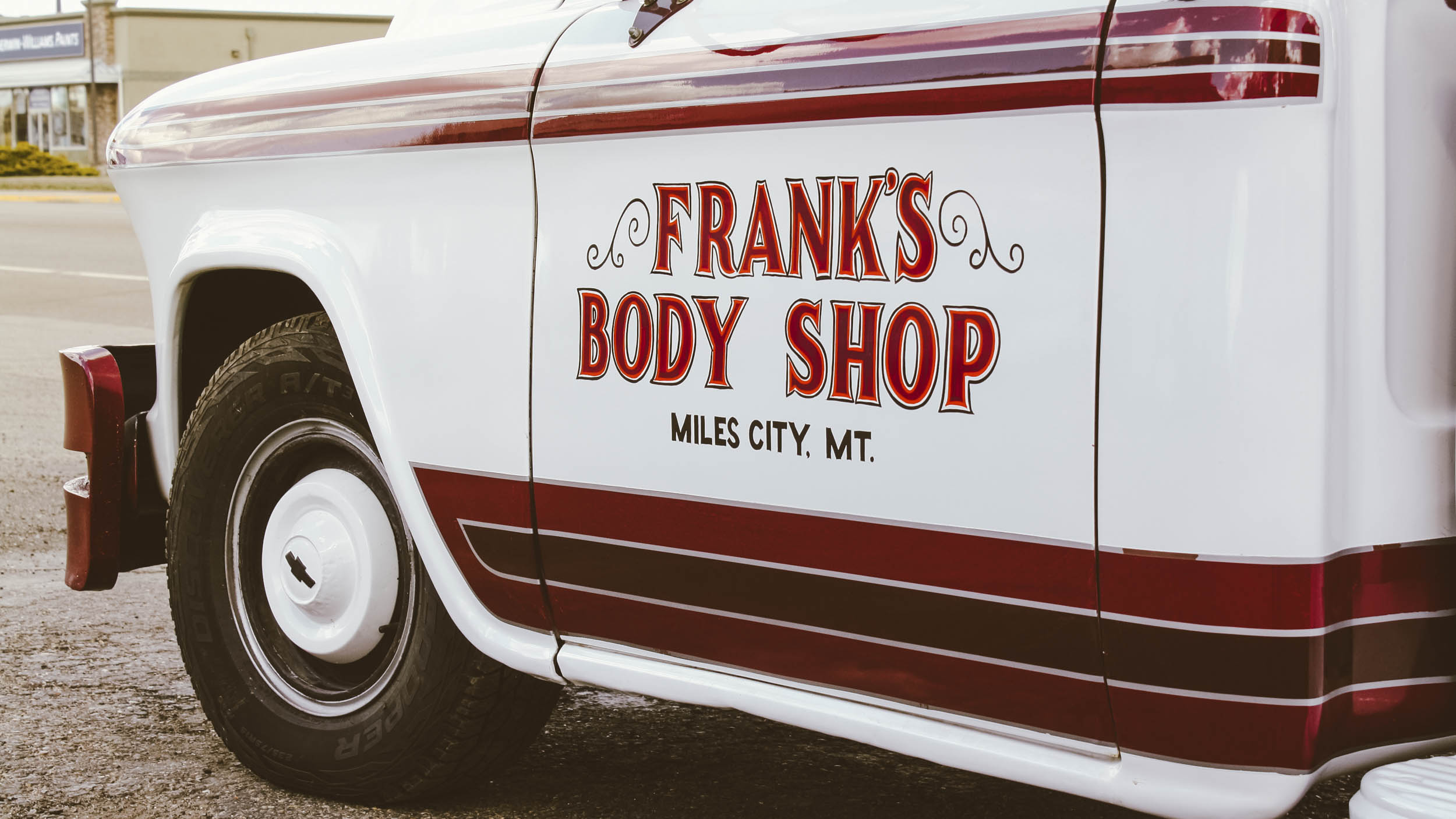 Frank Stoltz opened Frank's Body Shop in 1955 with a single truck: this 1955 Chevrolet 3/4-ton pickup.