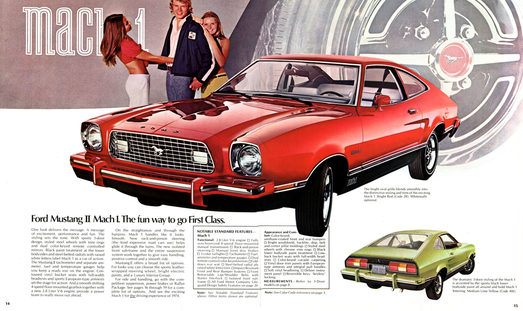 1974 Ford Mustang II Mach I advertisement