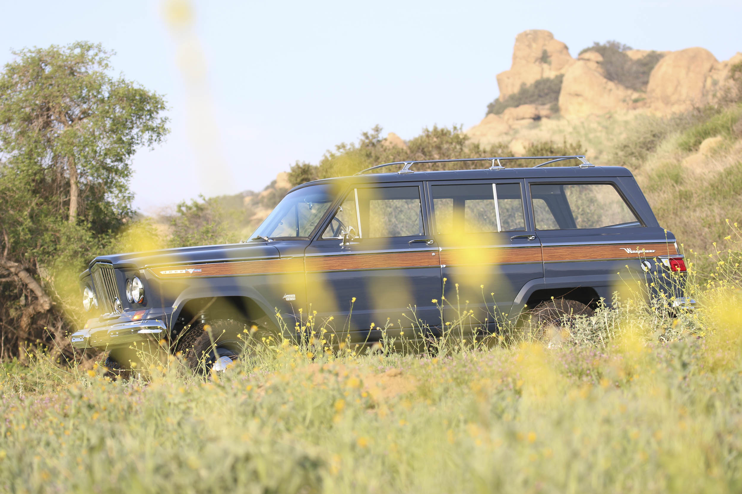 ICON Wagoneer profile through flower field