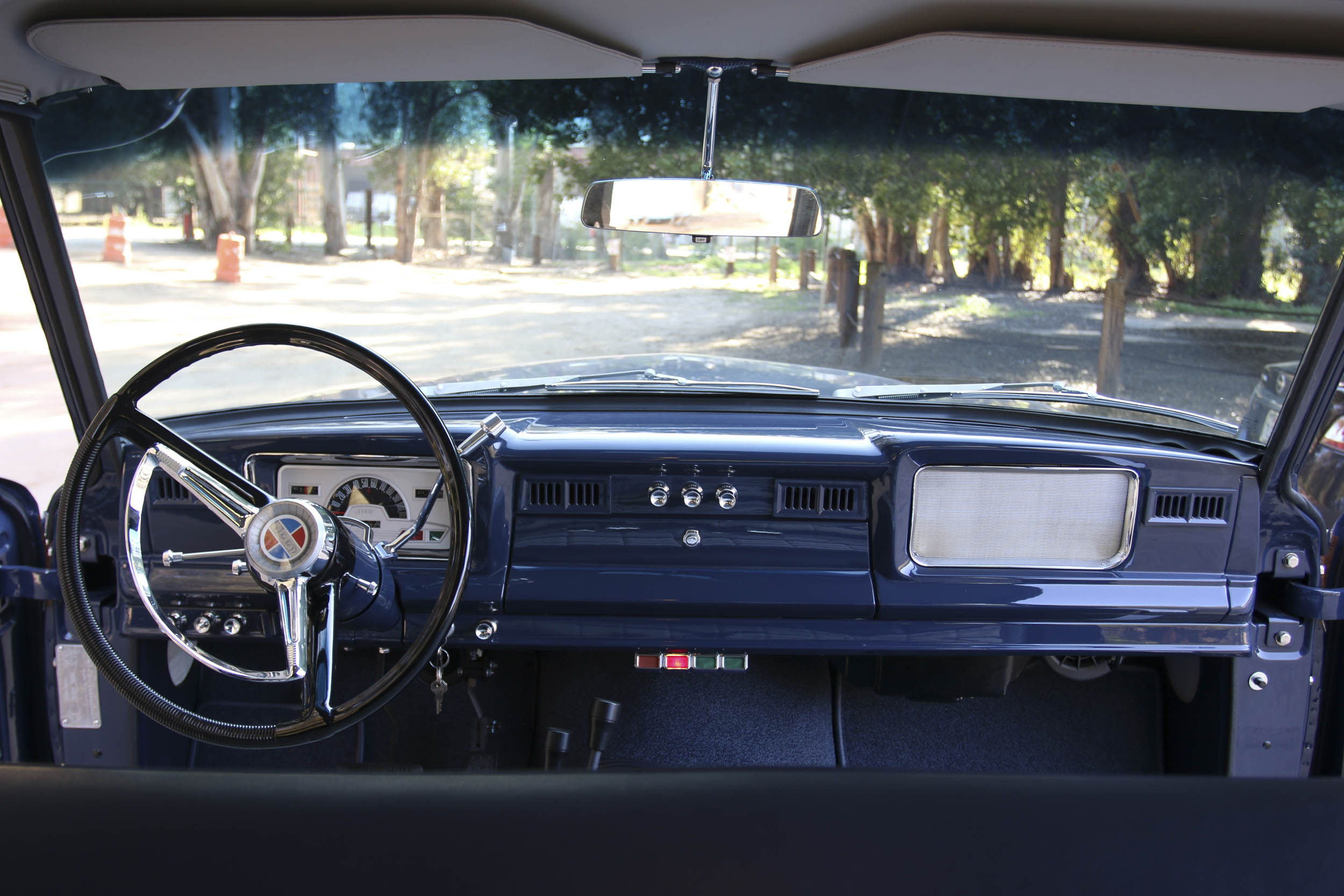 ICON Wagoneer view from the backseat