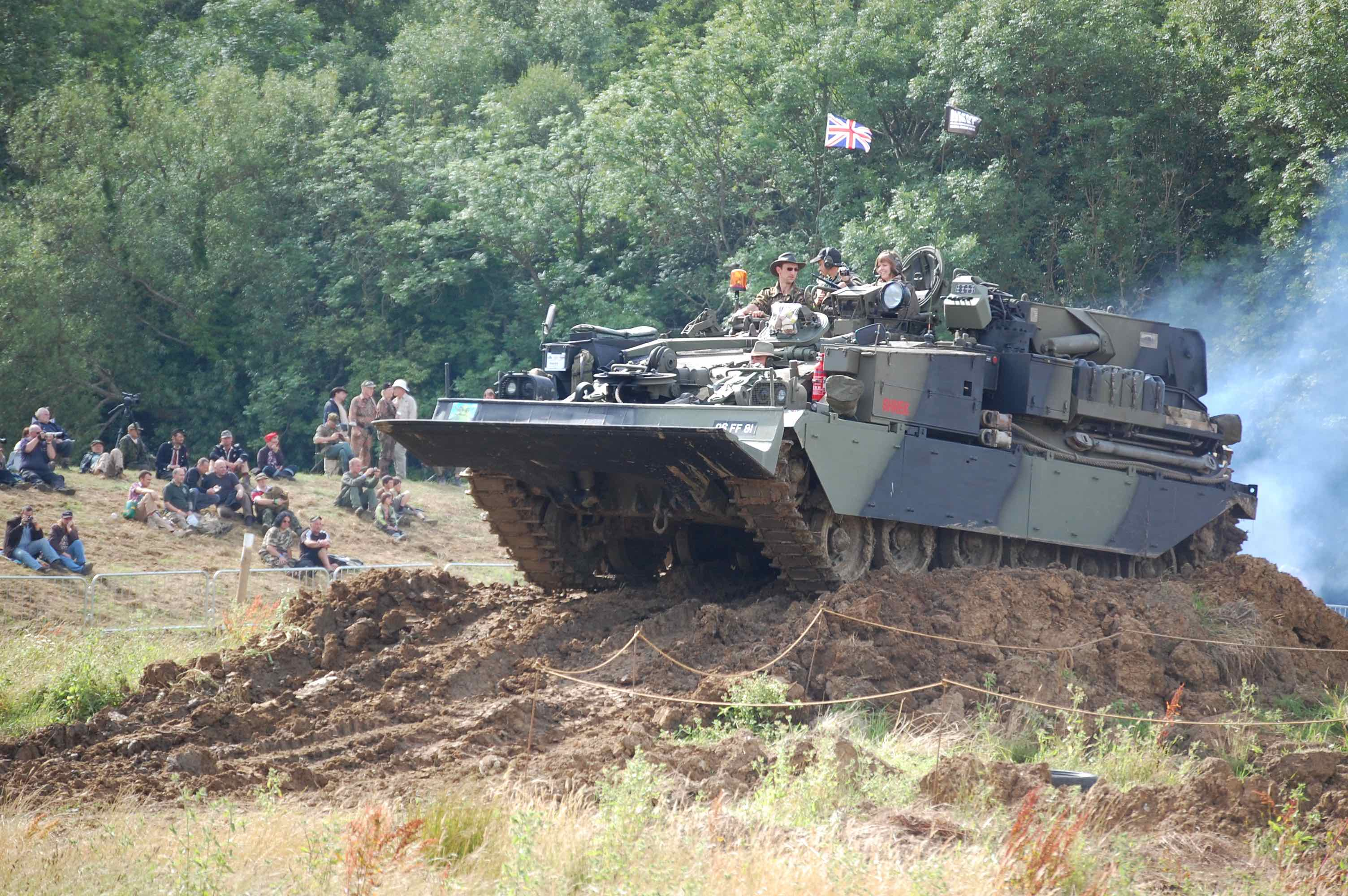 2018 War and Peace Revival Tank Climbs Hill