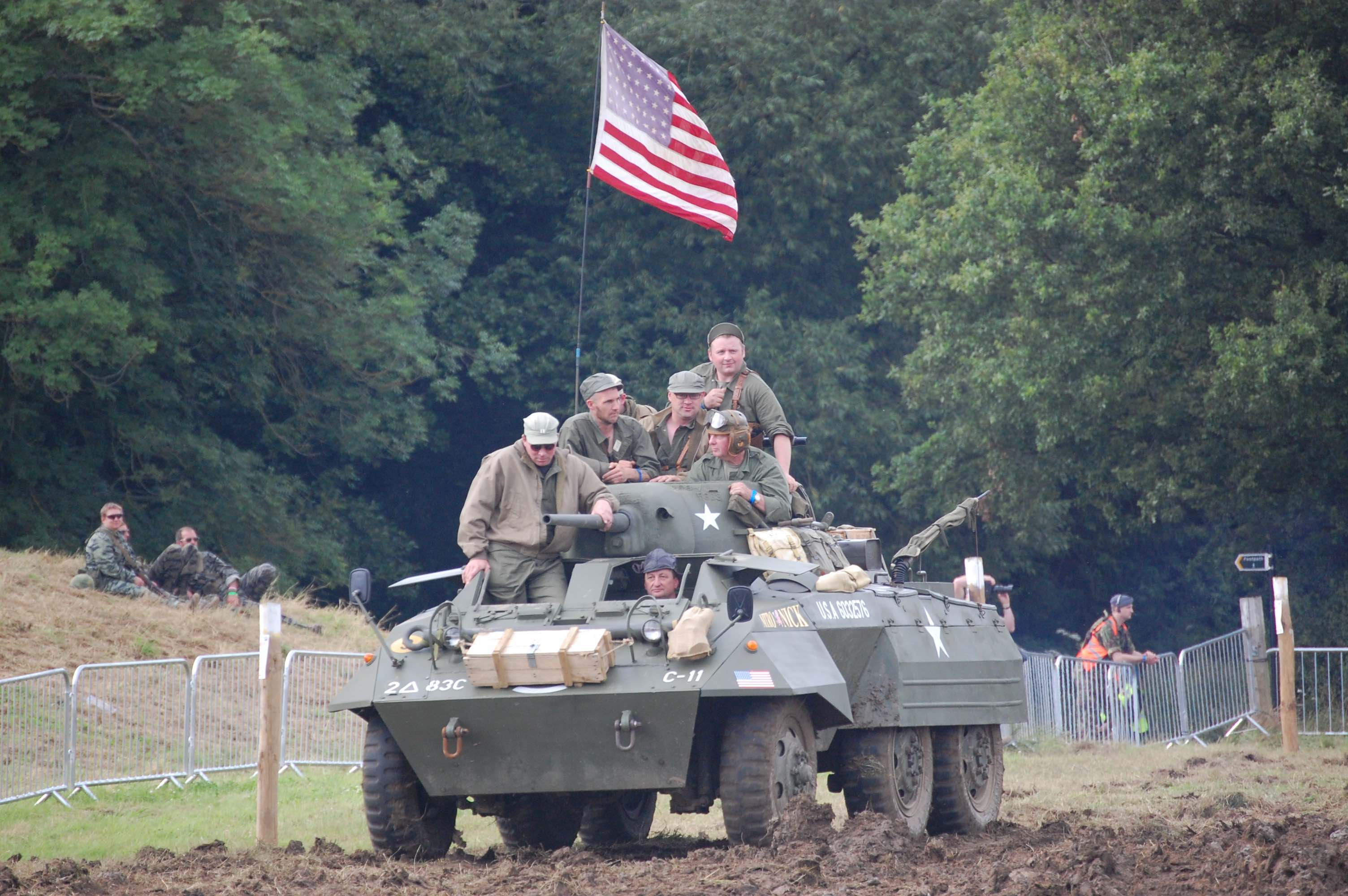 2018 War and Peace Revival Americans on transport
