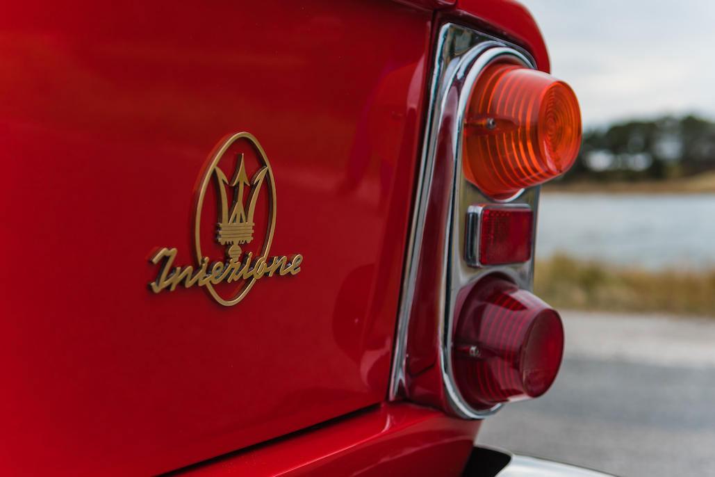 1963 Maserati Sebring 3500GTi Series 1 badge on trunk