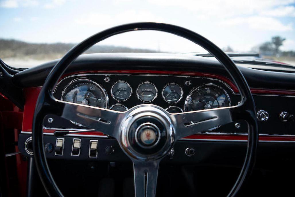 1963 Maserati Sebring 3500GTi Series 1 steering wheel