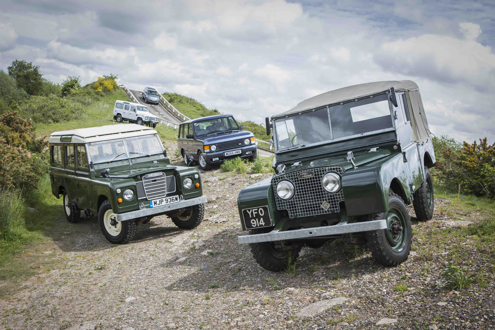 Land Rovers and Range Rovers together Reborn