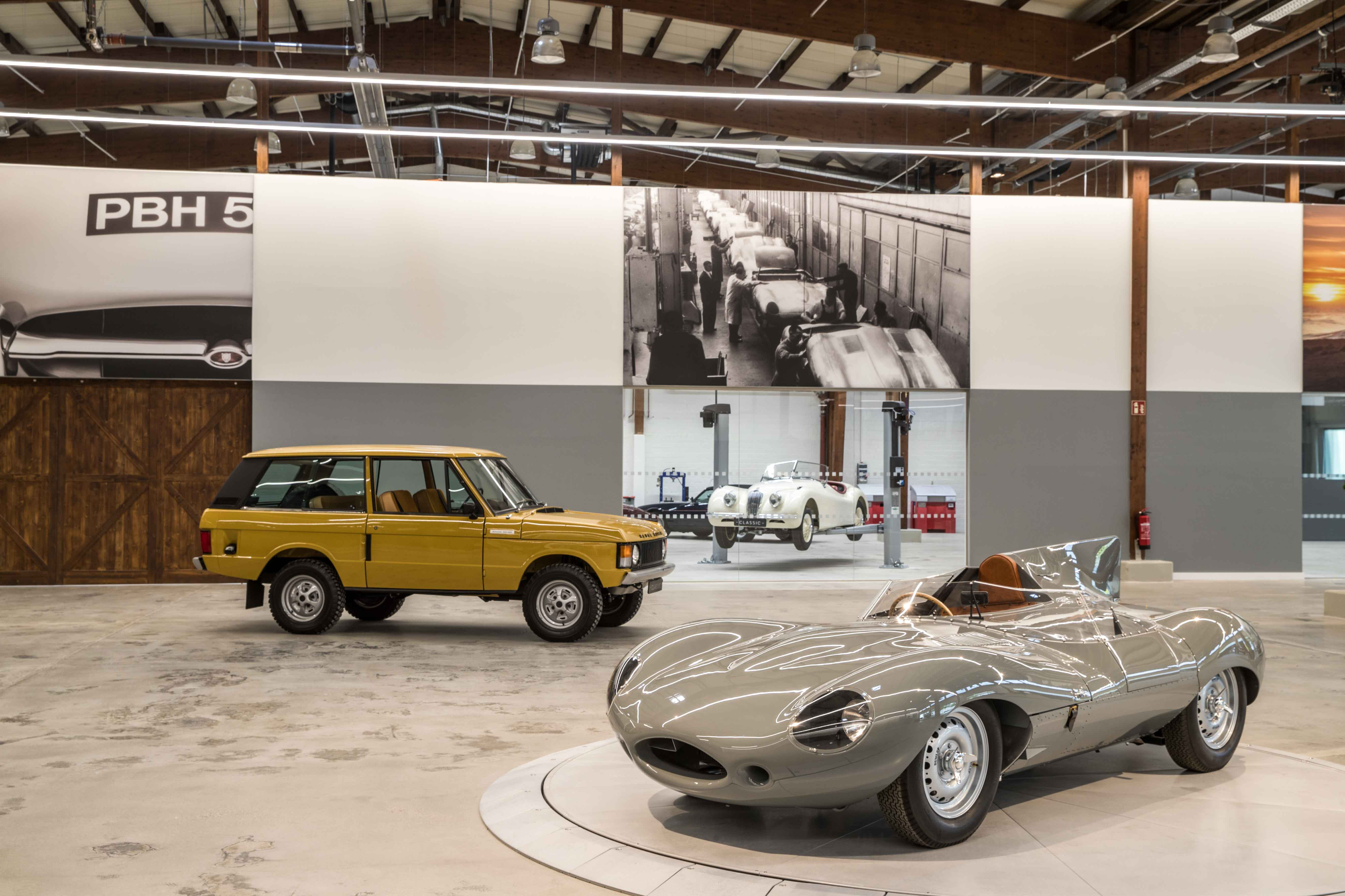 Recreated 1956-specification Jaguar D-type and 1978 Range Rover reborn at the Jaguar Land Rover Classic Works
