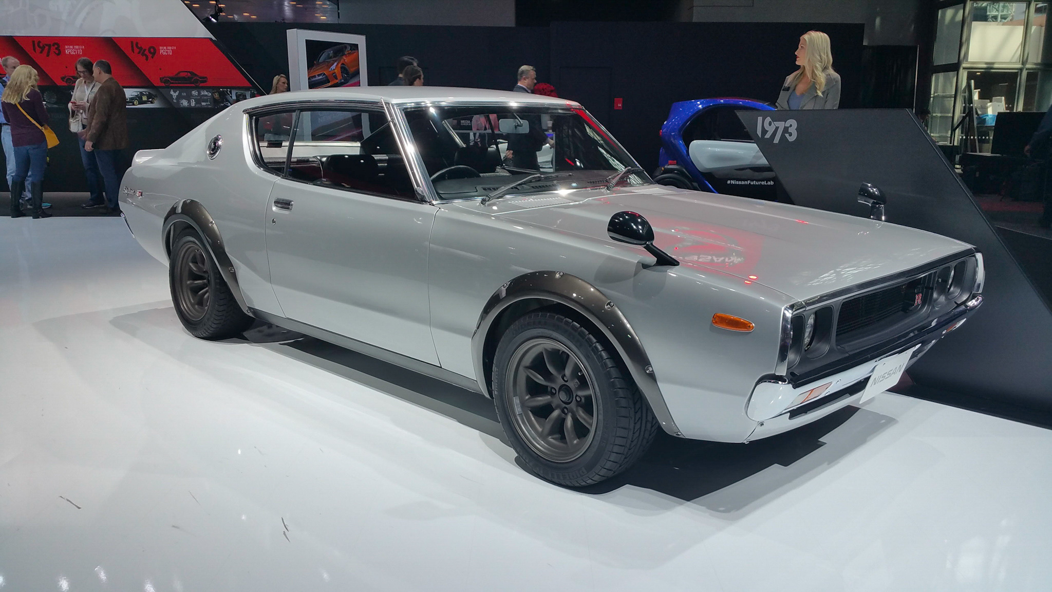 Restored and modified 1973 Nissan Skyline 2000 GT-R at the 2016 New York International Auto Show
