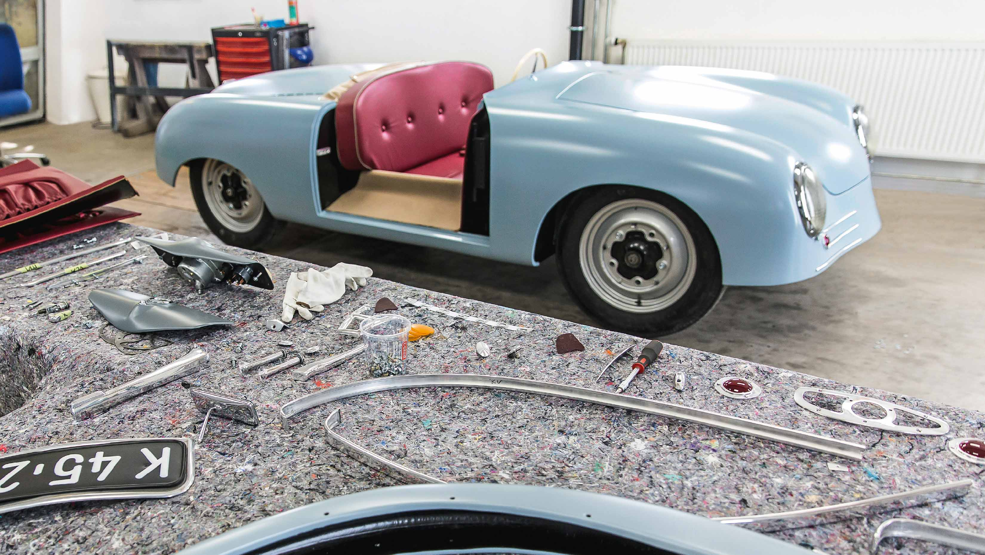 Recreated No.1 356 Porsche ready for its world tour.