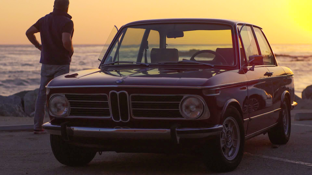 BMW 2002 at the beach