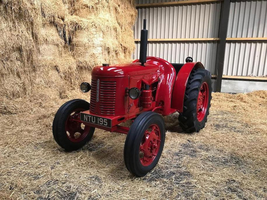 Red 1951 David Brown Tractor front 3/4