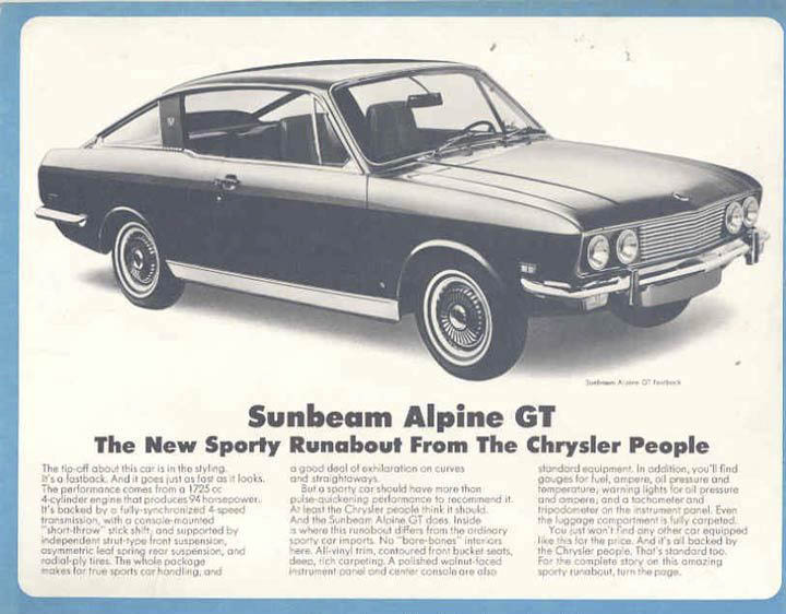 Sunbeam Alpine GT