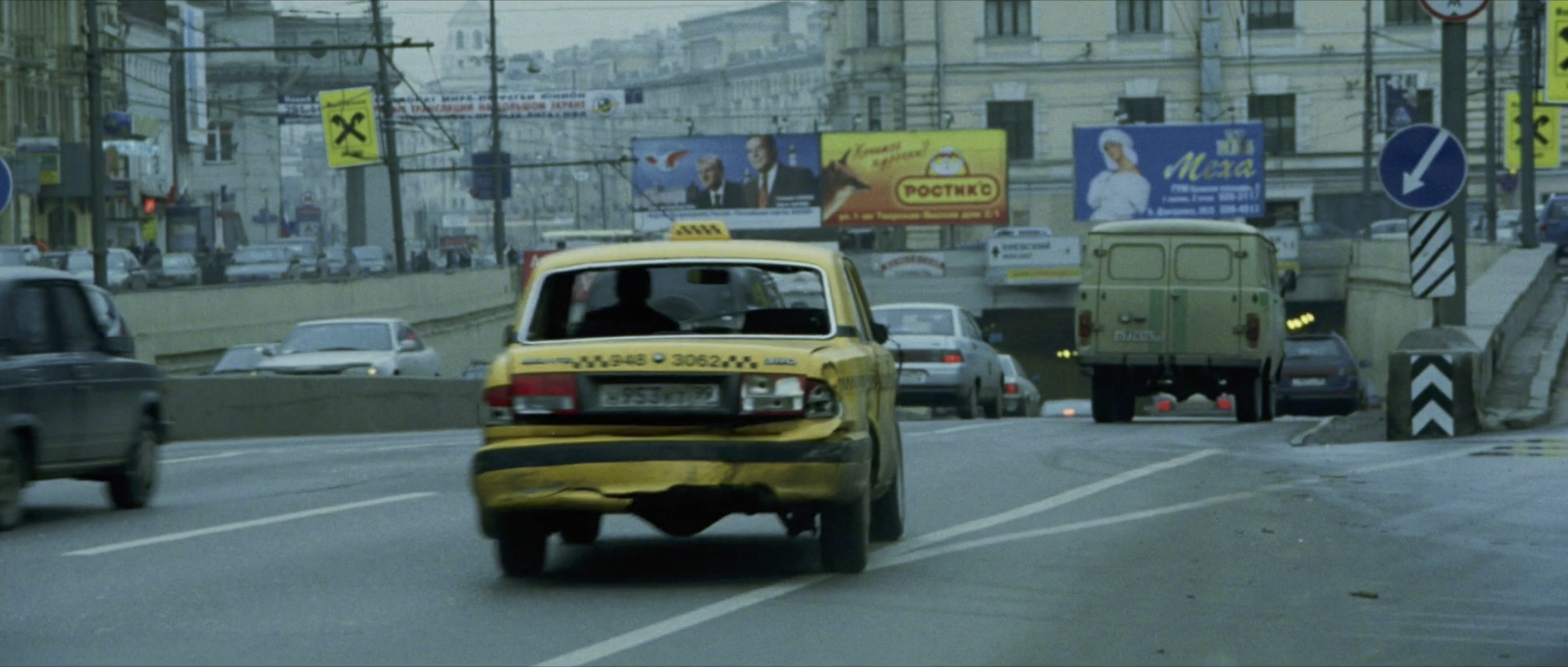 Bourne Supremacy Car Chase Taxi Rear