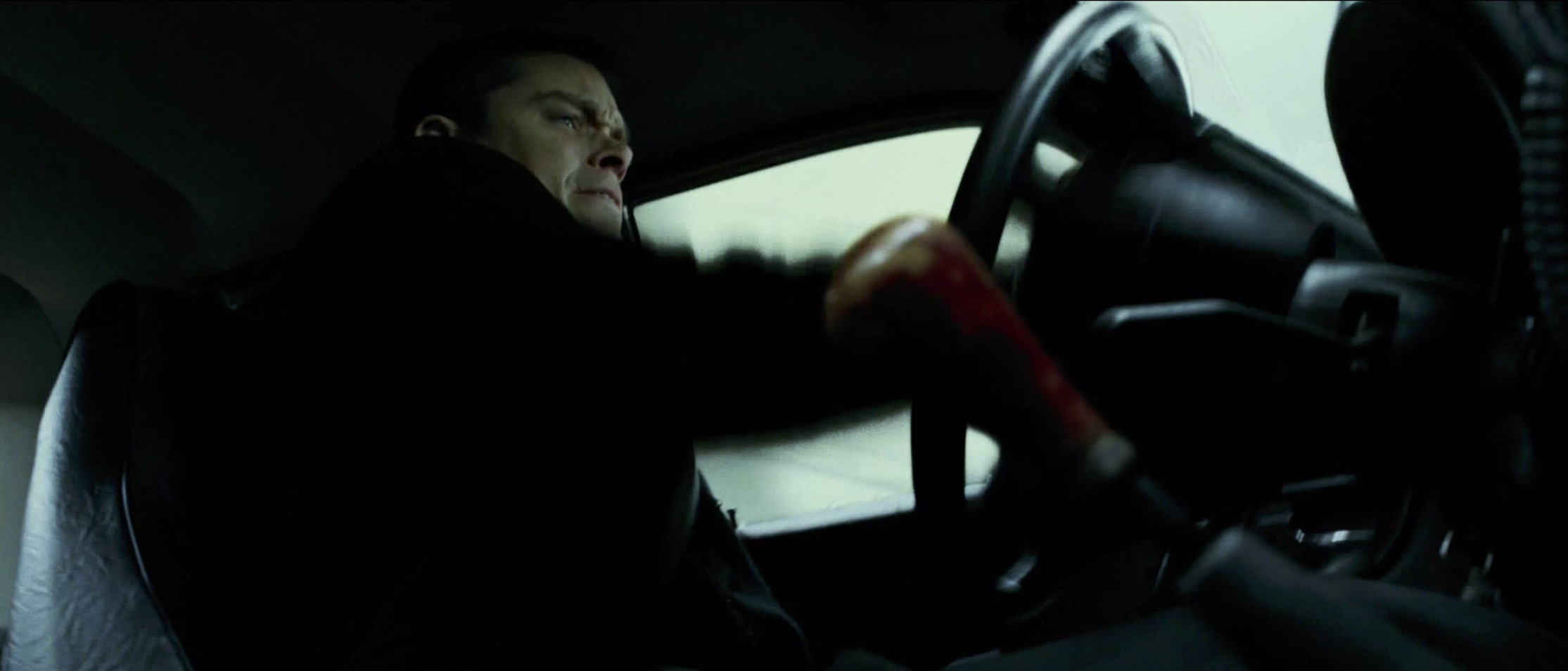 Jason Bourne Shifting gears taxi