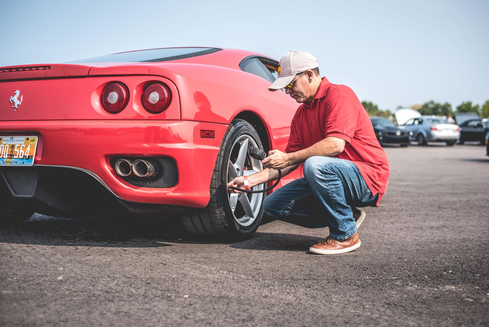 make sure to check your tire pressure