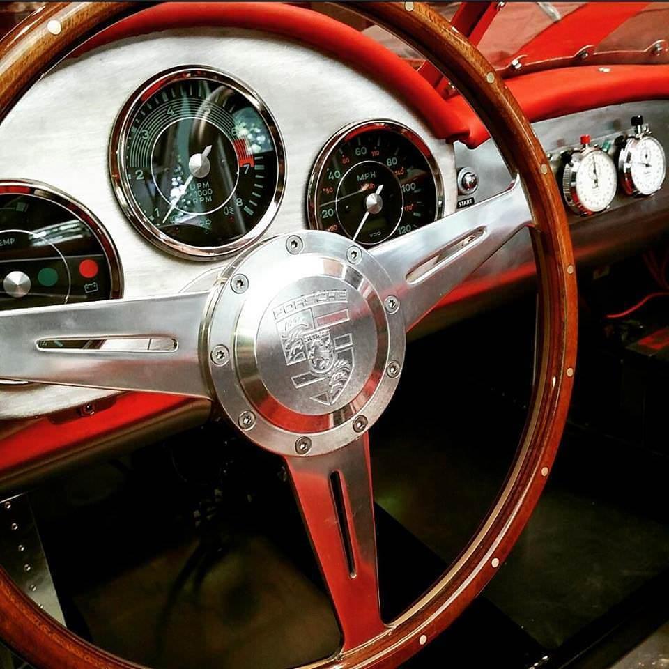 Custom Porsche 356 Wood Steering Wheel
