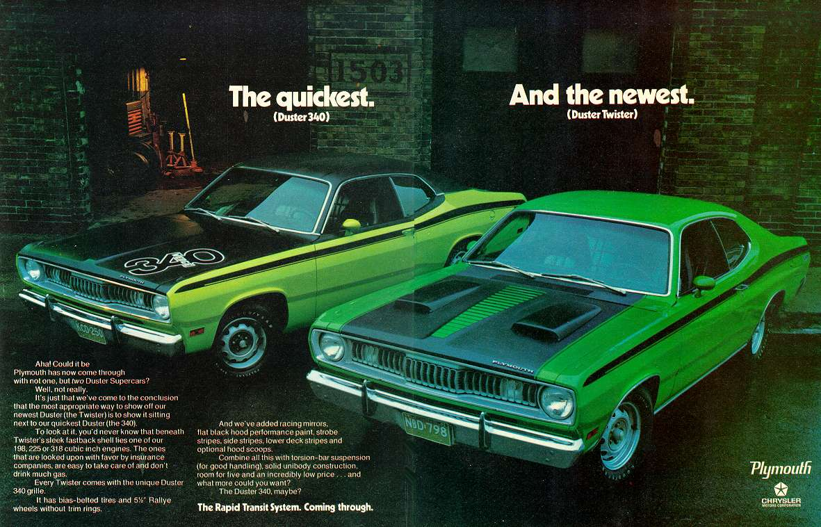 1971 Plymouth Duster ad