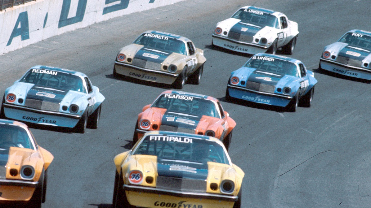 The IROC grid pitted 12 championship drivers from sports car, NASCAR, Champ Car, and Formula One racing.