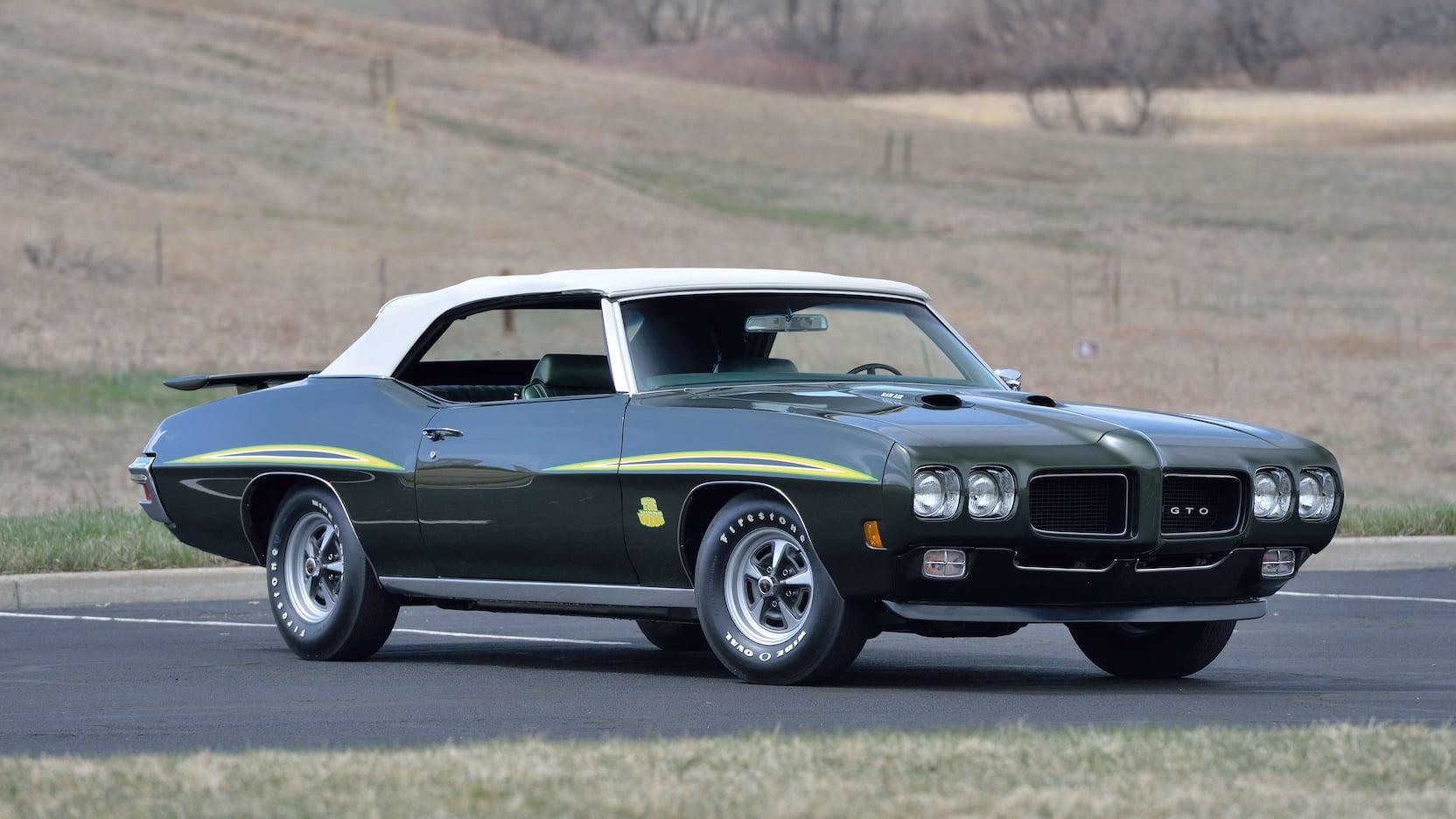 1970 Pontiac GTO Judge Convertible Front 3/4