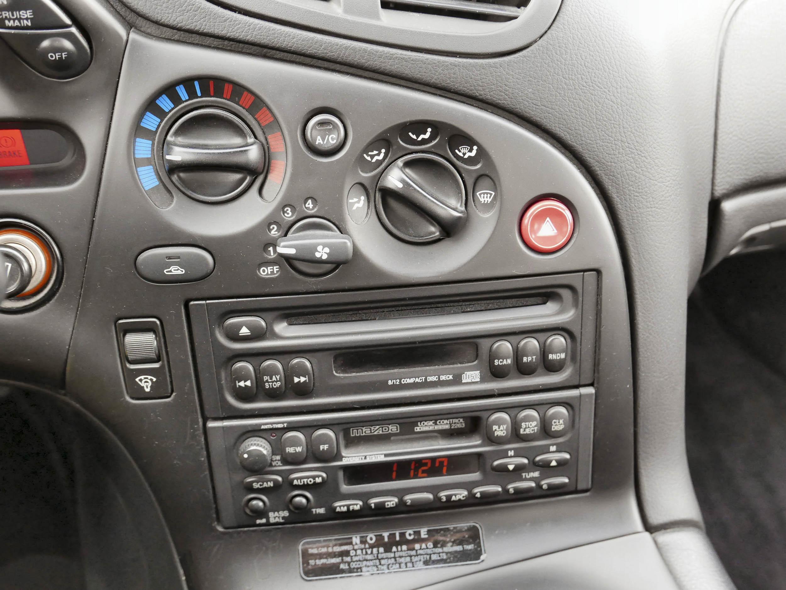 Mazda RX-7 climate and radio control
