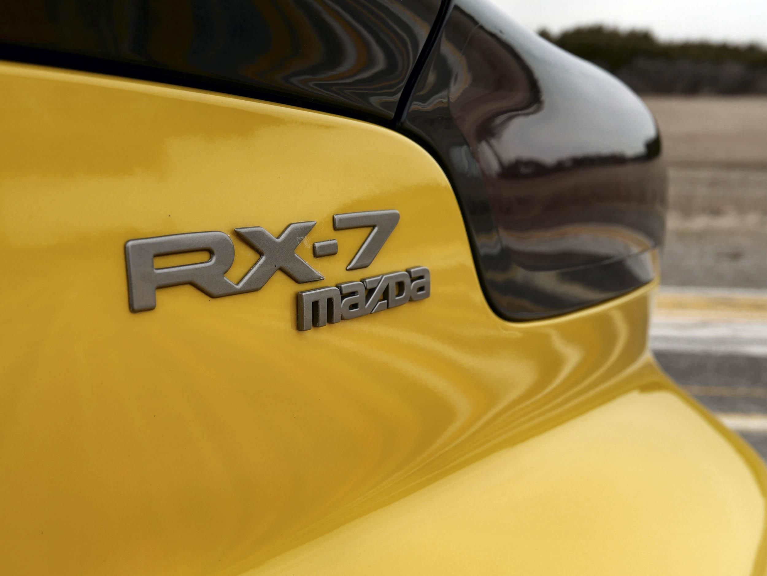 Mazda RX-7 rear trunk badge
