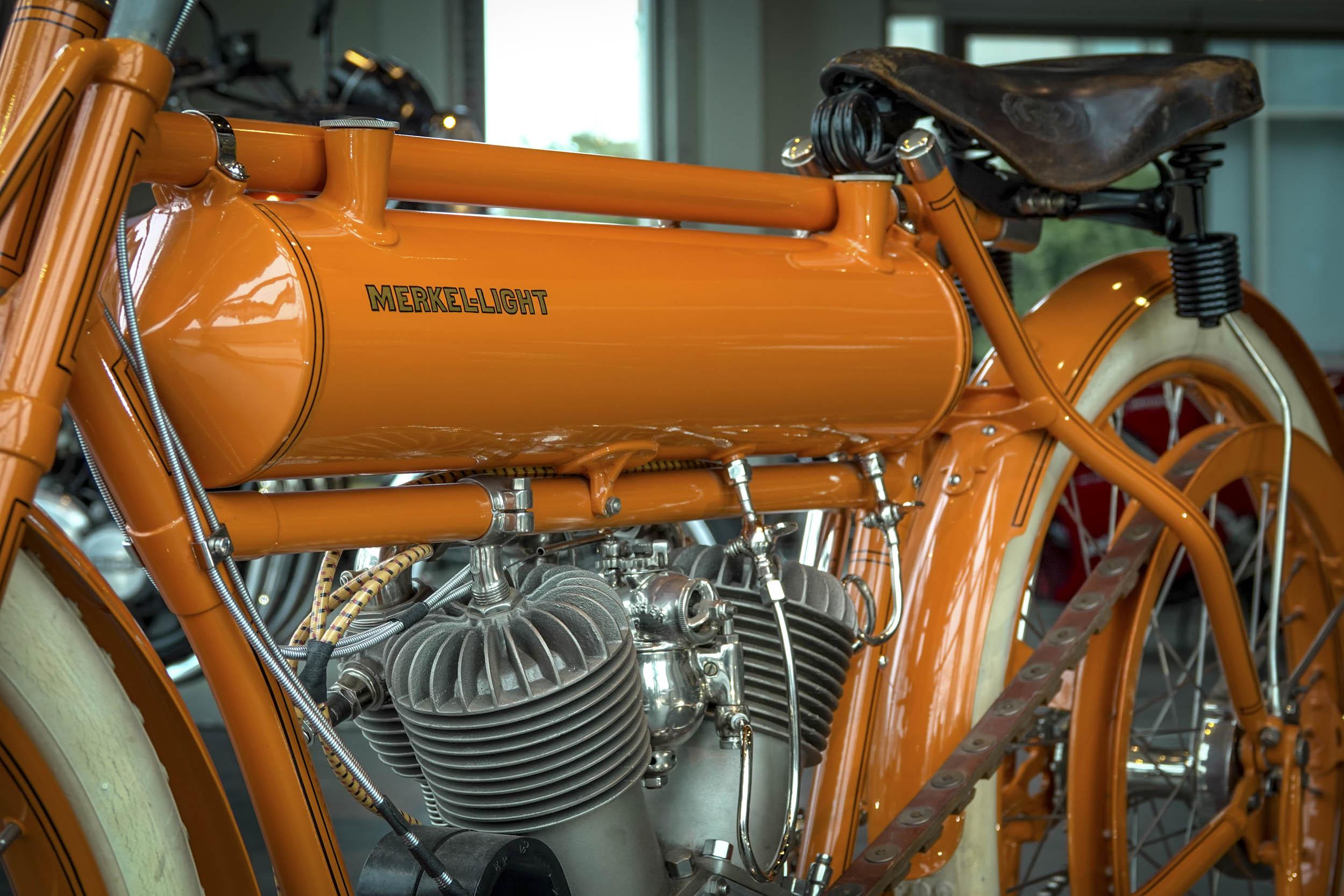 Flying Merkel motorcycle gas tank