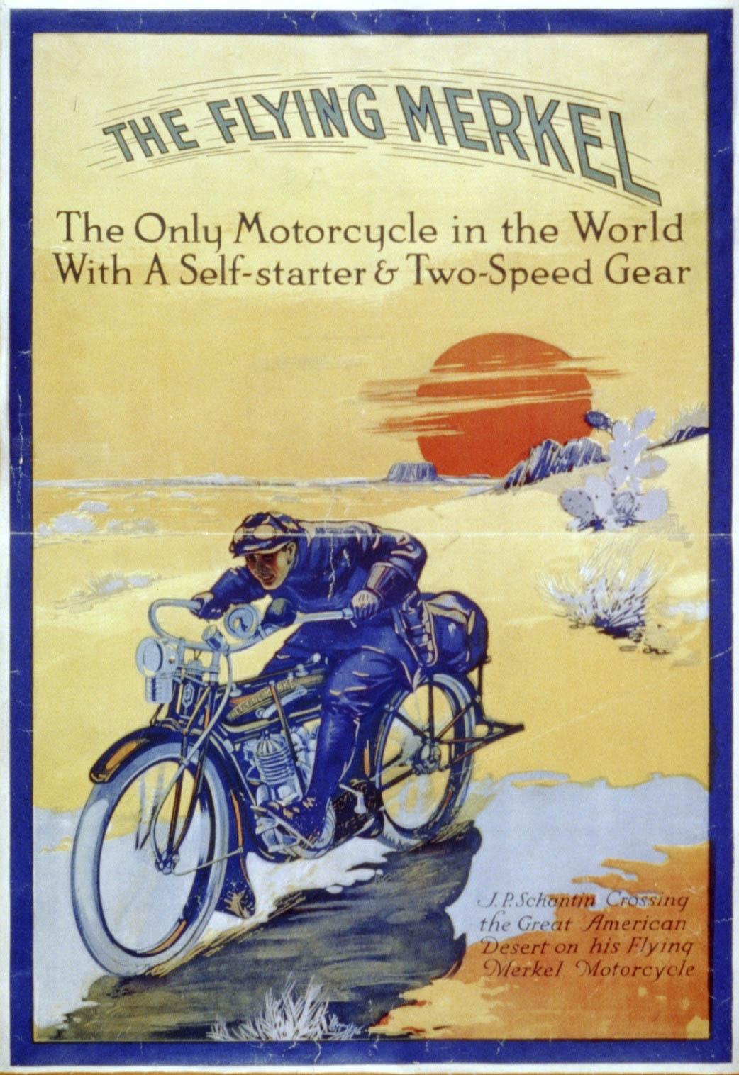 Flying Merkel motorcycle classic advertisement
