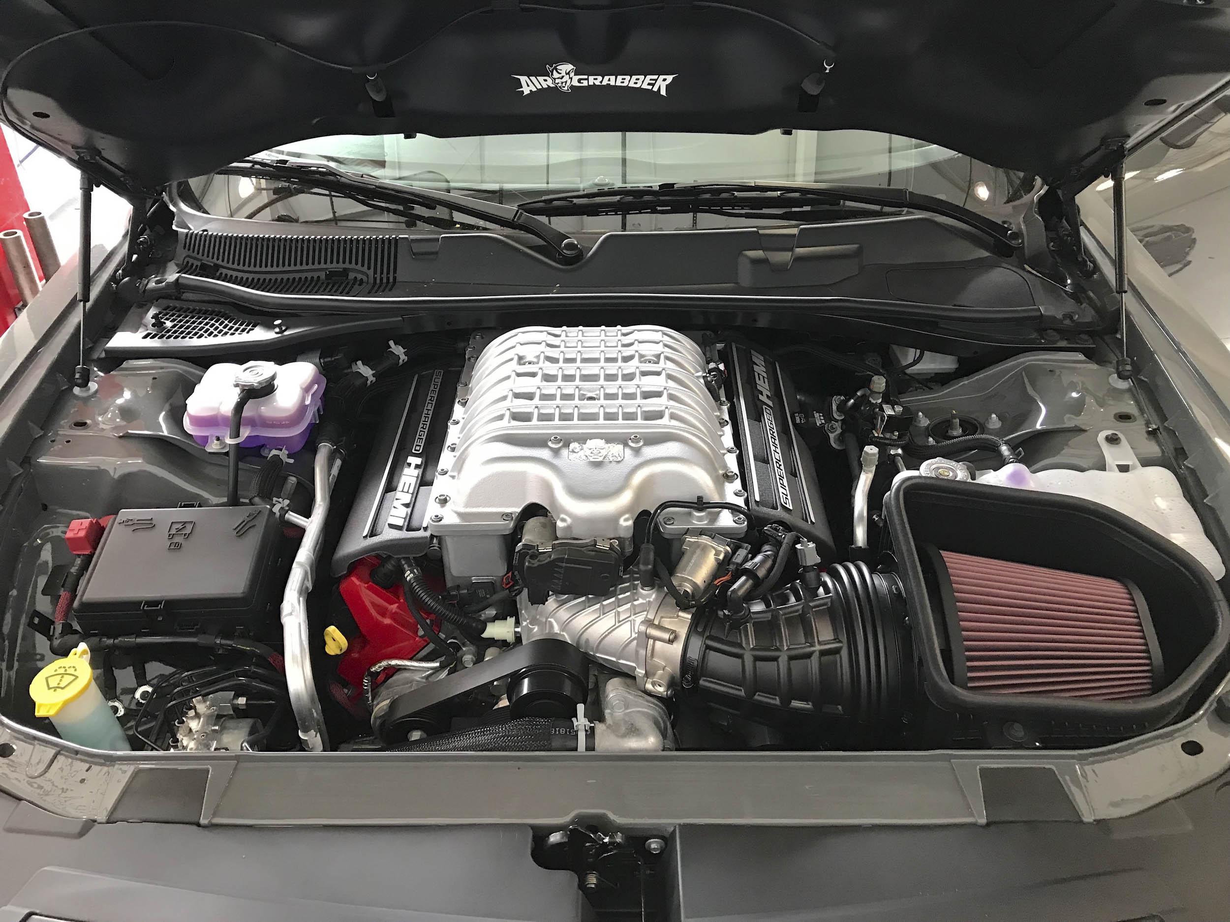 2018 Dodge Challenger SRT Demon engine bay