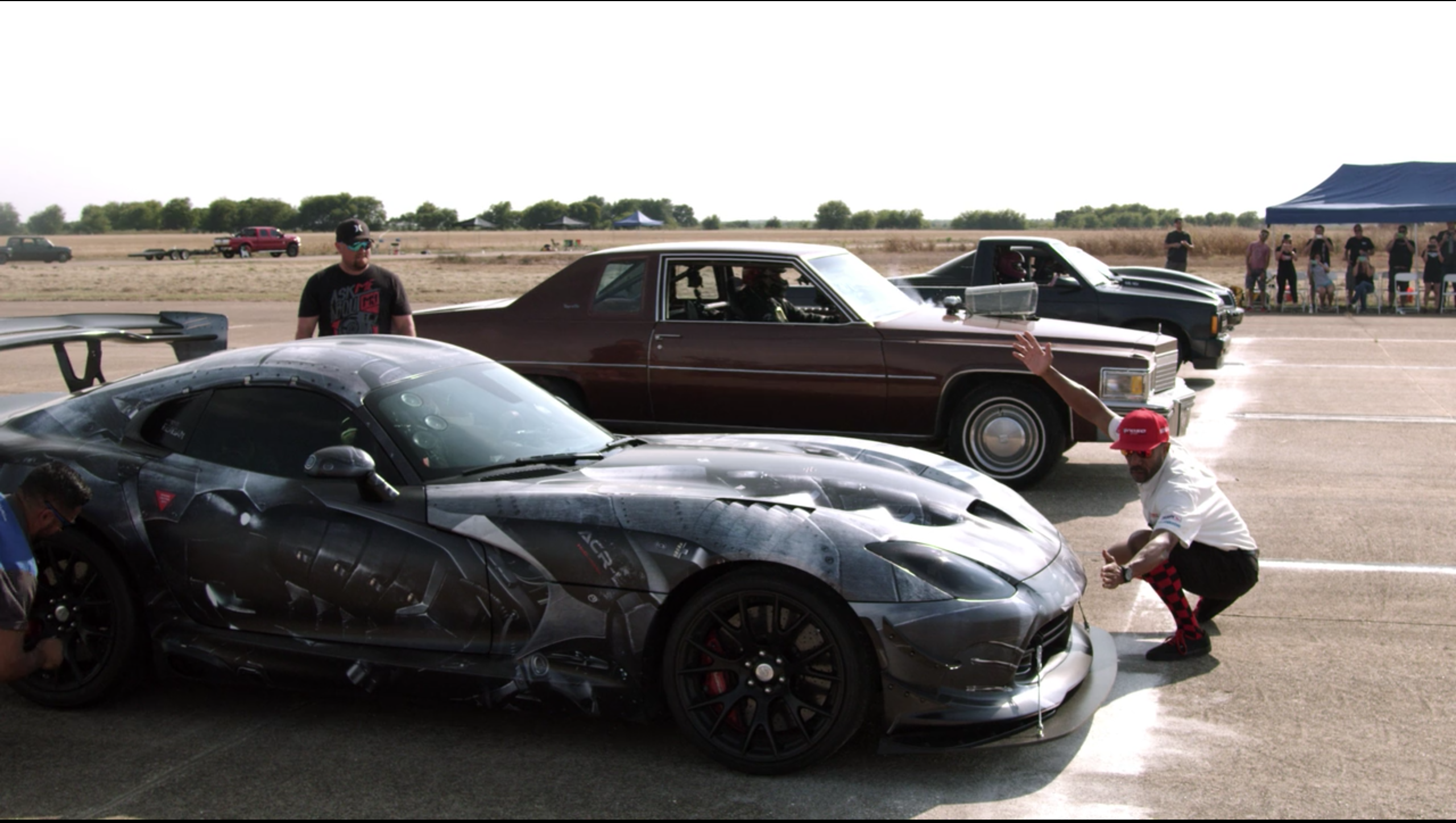 Netflix Fastest Car Viper ACR Cadillac Coupe Deville Drag Race